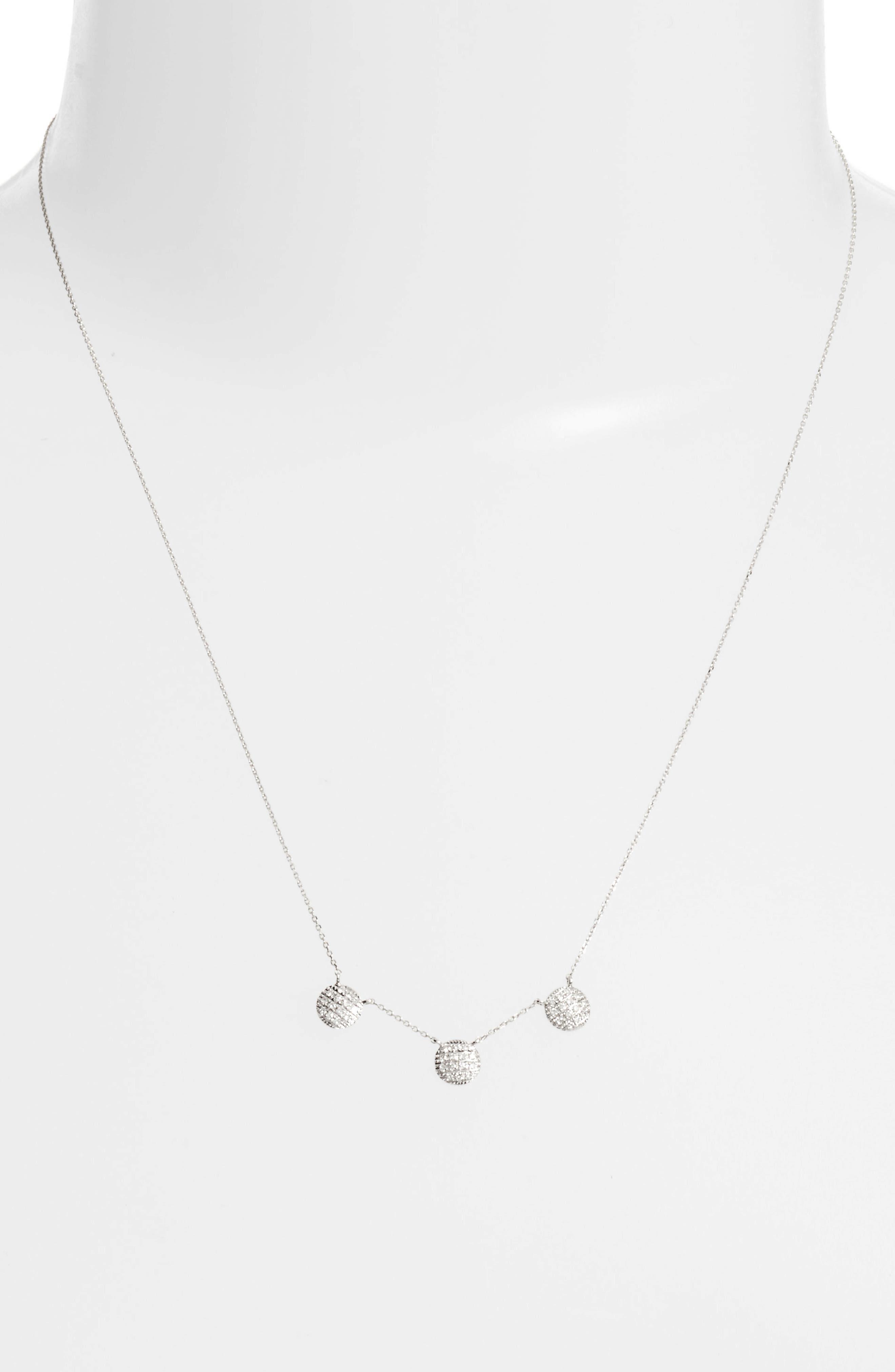 Lauren Joy Three-Disc Diamond Necklace,                             Alternate thumbnail 5, color,