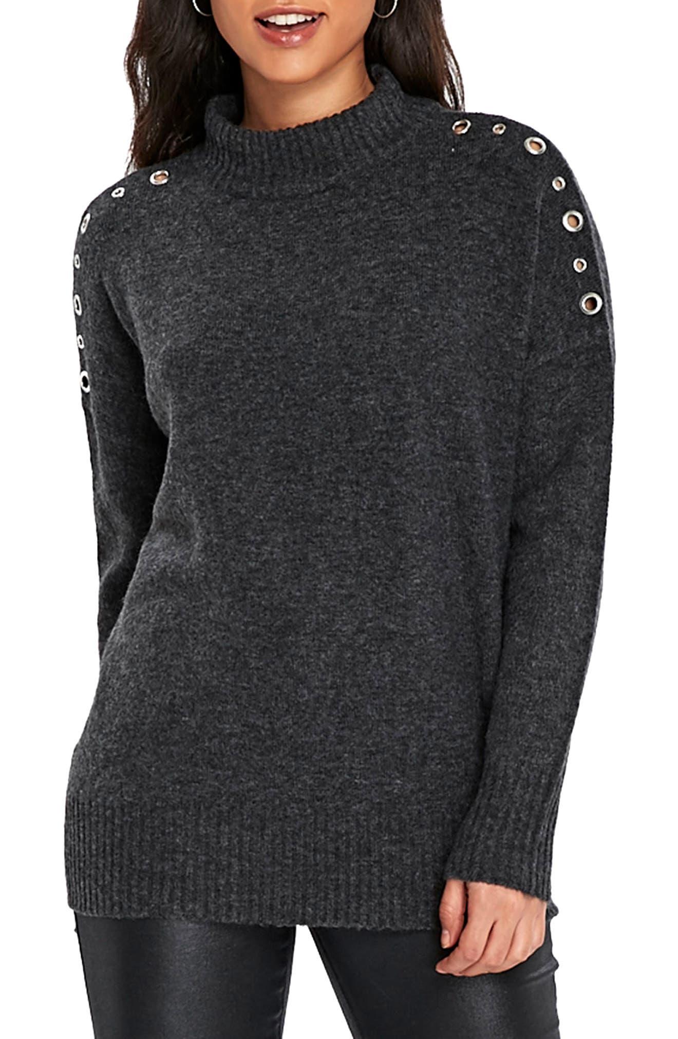Eyelet Shoulder Knit Tunic,                             Main thumbnail 1, color,                             021