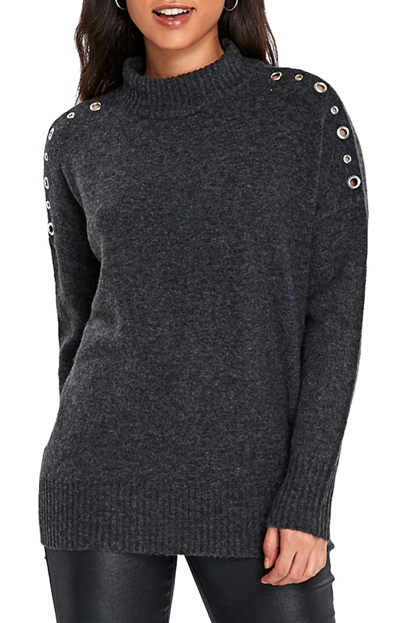 Eyelet Shoulder Knit Tunic,                         Main,                         color, 021