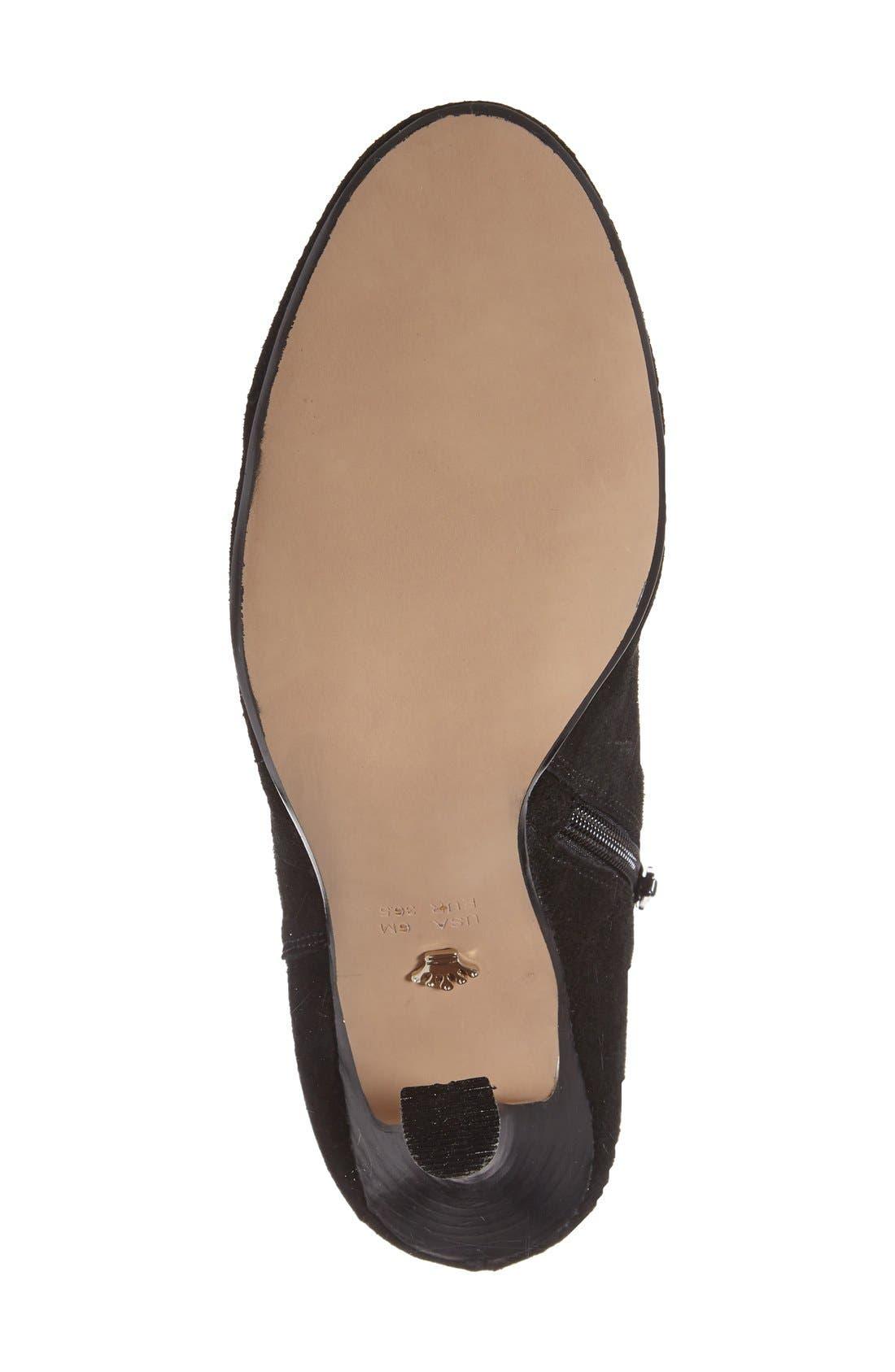 Nina 'Iolathe' Flared Heel Bootie,                             Alternate thumbnail 4, color,                             008