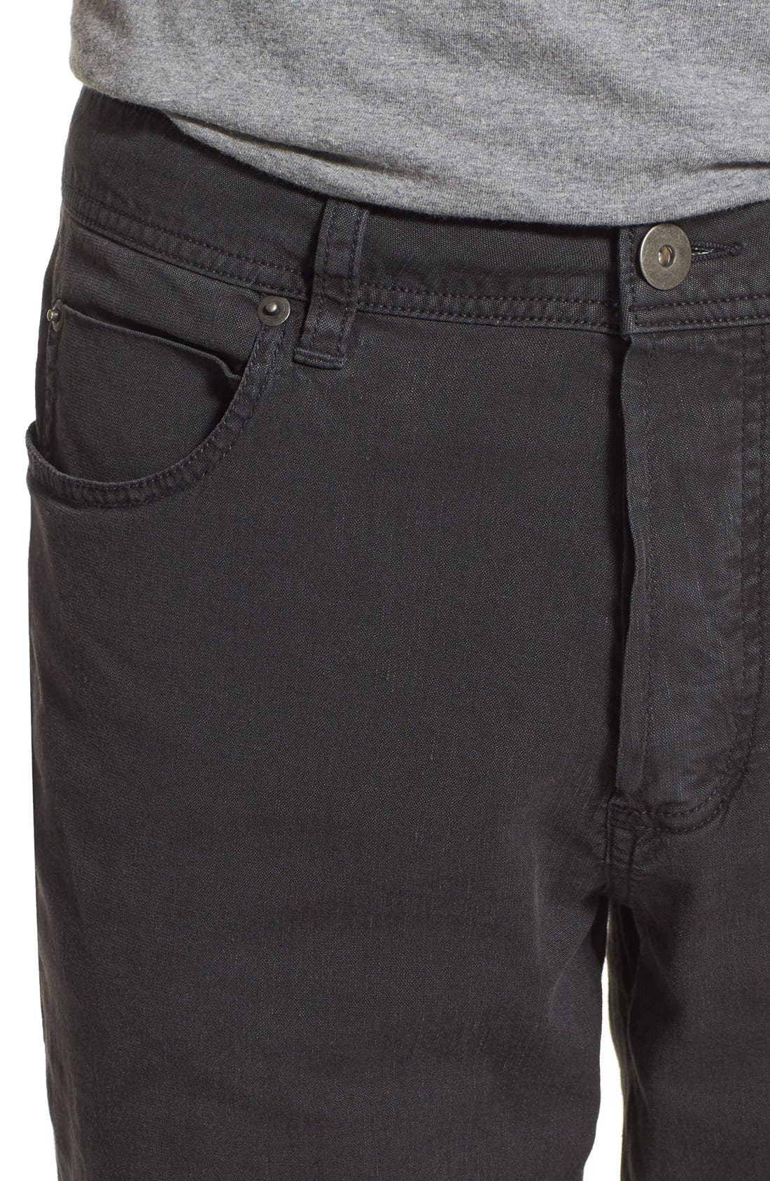 Straight Leg Five-Pocket Pants,                             Alternate thumbnail 11, color,                             CARBON PIGMENT