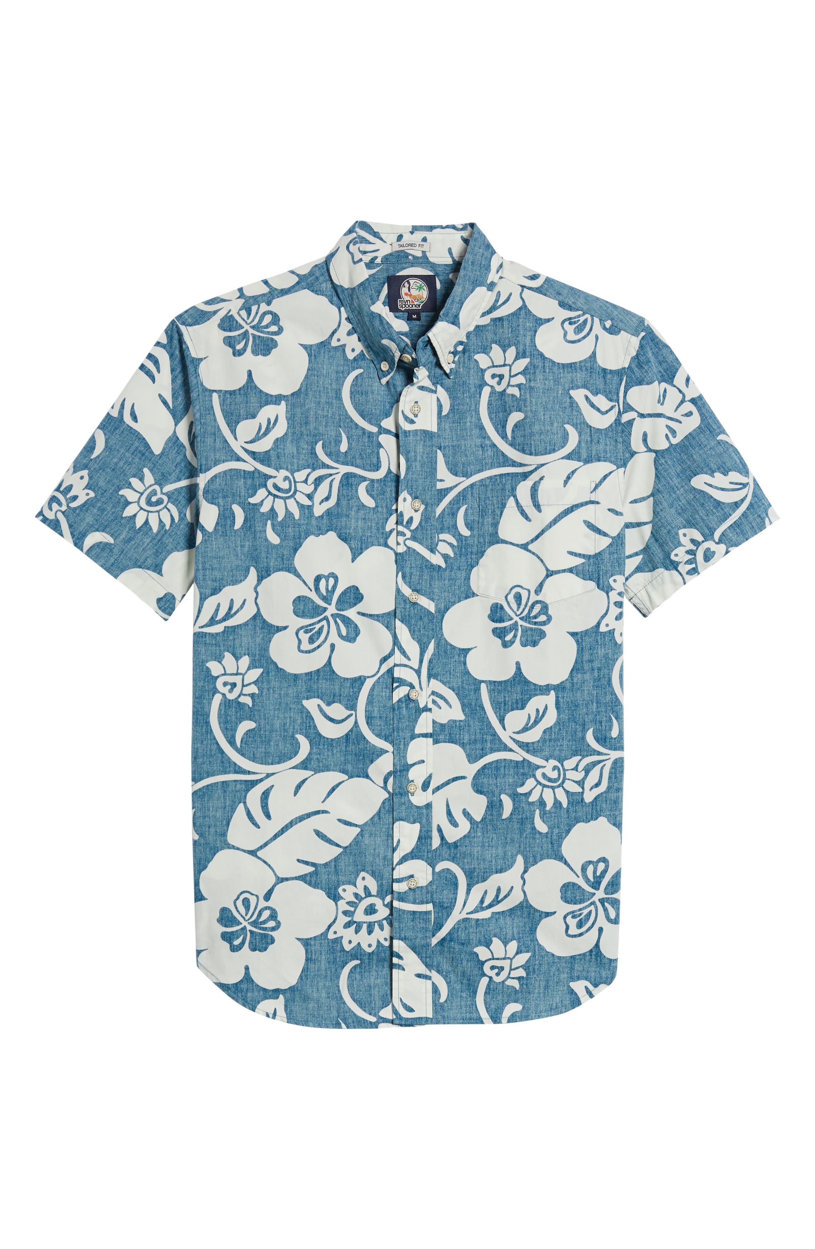 Papeetee Pareau Tailored Fit Sport Shirt,                             Alternate thumbnail 6, color,