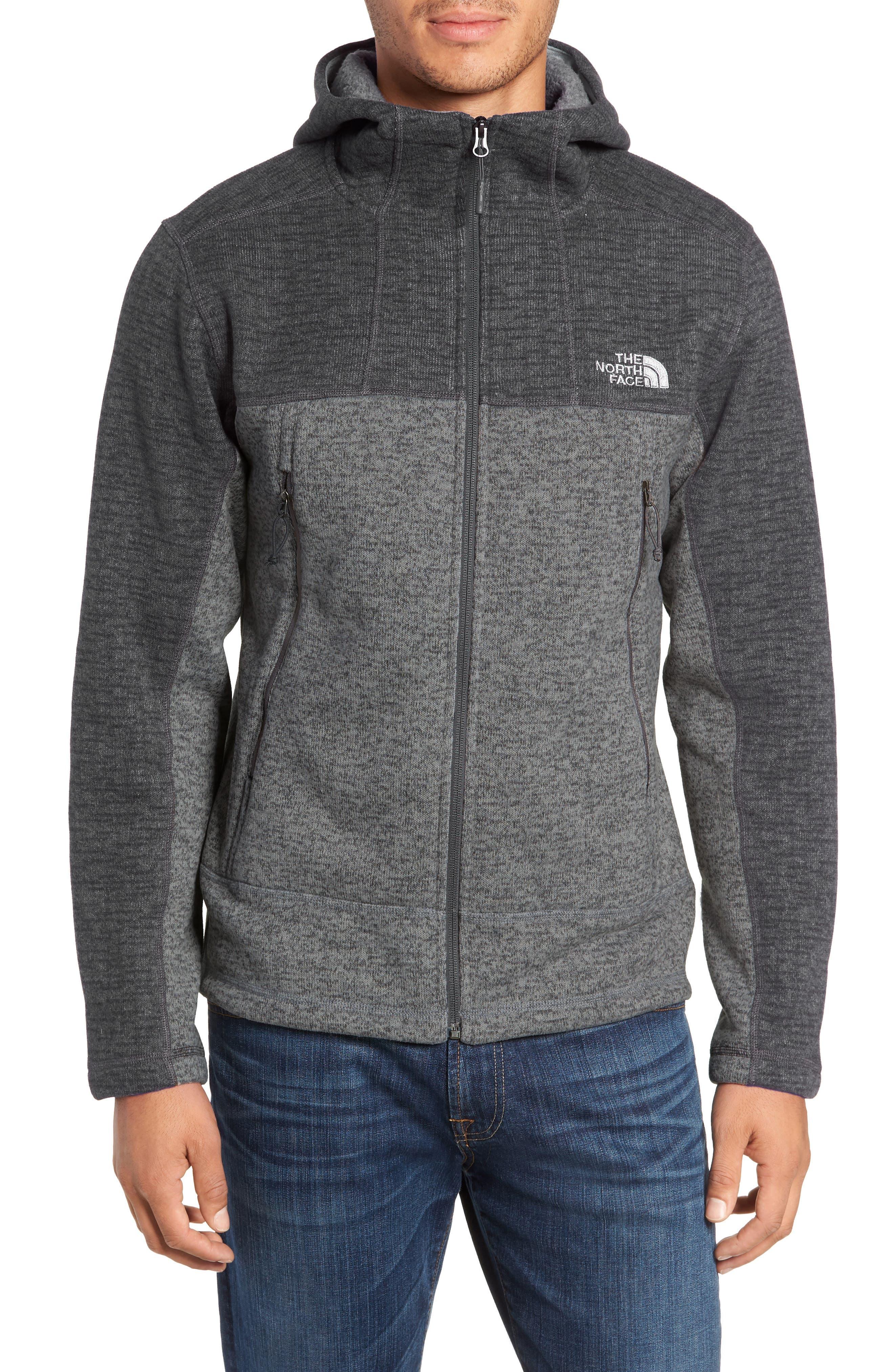Gordon Lyons Alpine Sweater Fleece Hoodie,                             Main thumbnail 1, color,                             ASPHALT GREY/ MONUMENT GREY