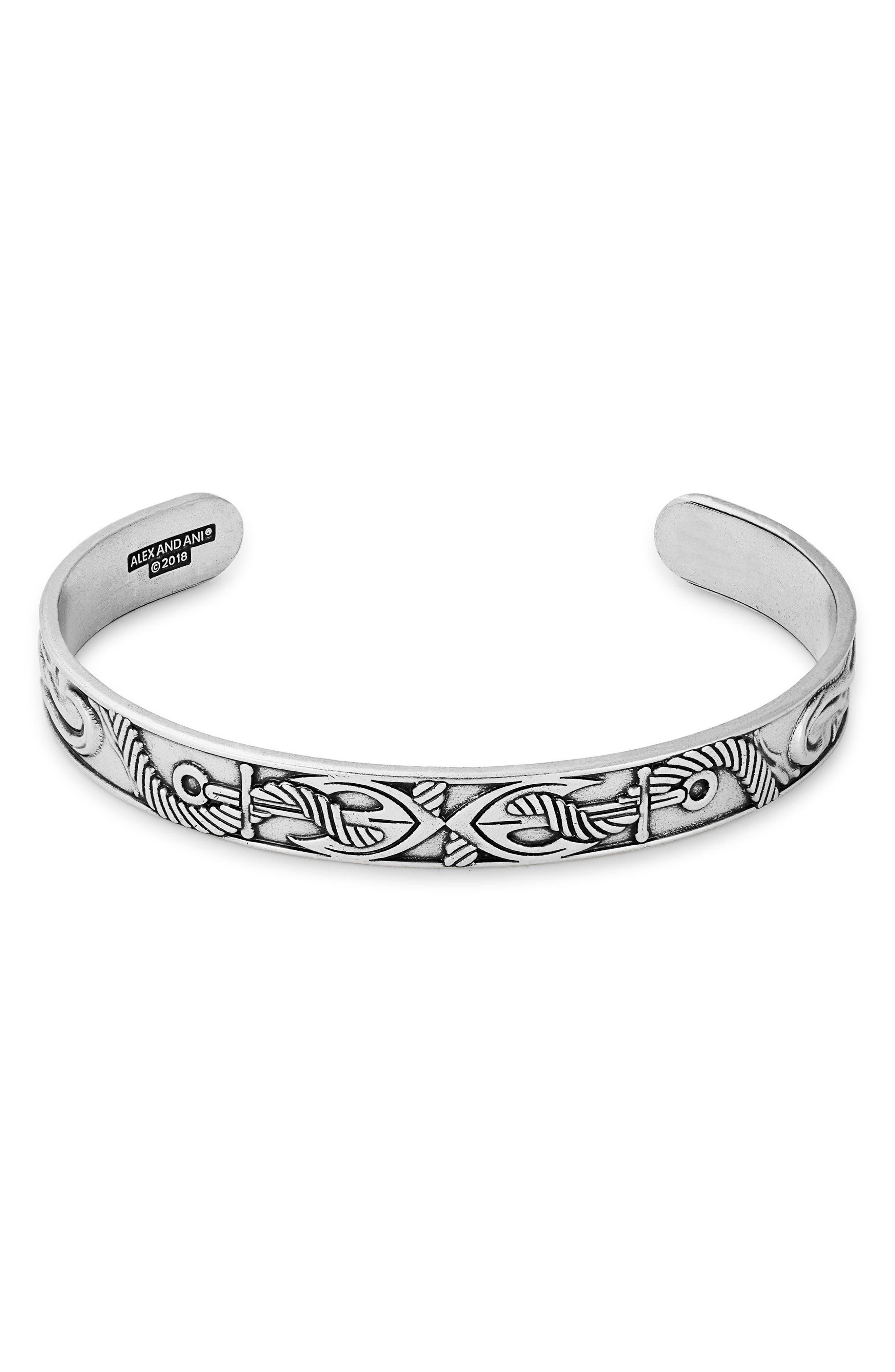 Men's Anchor Cuff Bracelet,                             Main thumbnail 1, color,                             040
