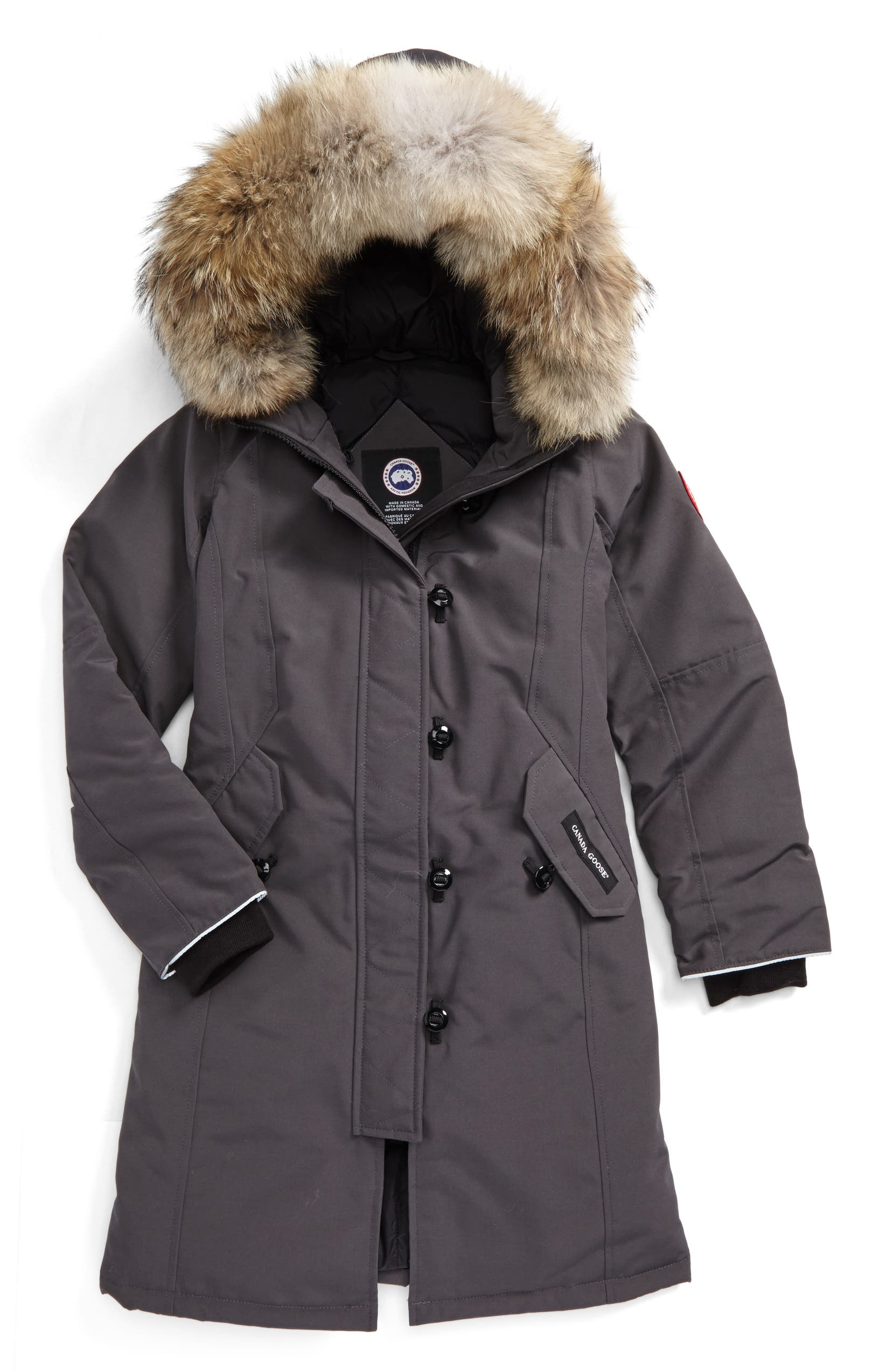Canada Goose 'Brittania' Down Parka with Genuine Coyote Fur Trim (Little Kid & Big Kid) | Nordstrom