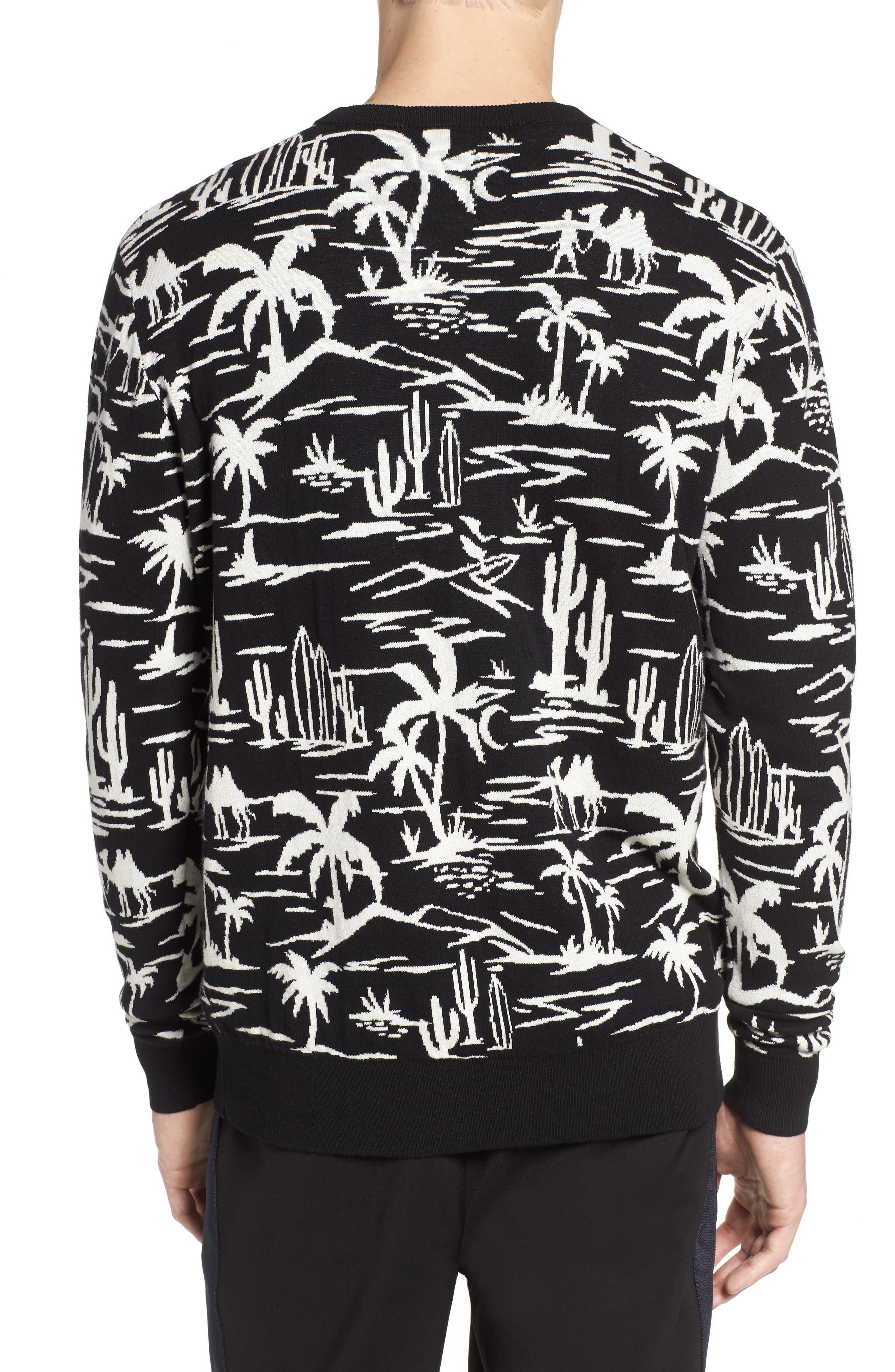 Jacquard Pattern Sweatshirt,                             Alternate thumbnail 2, color,                             002