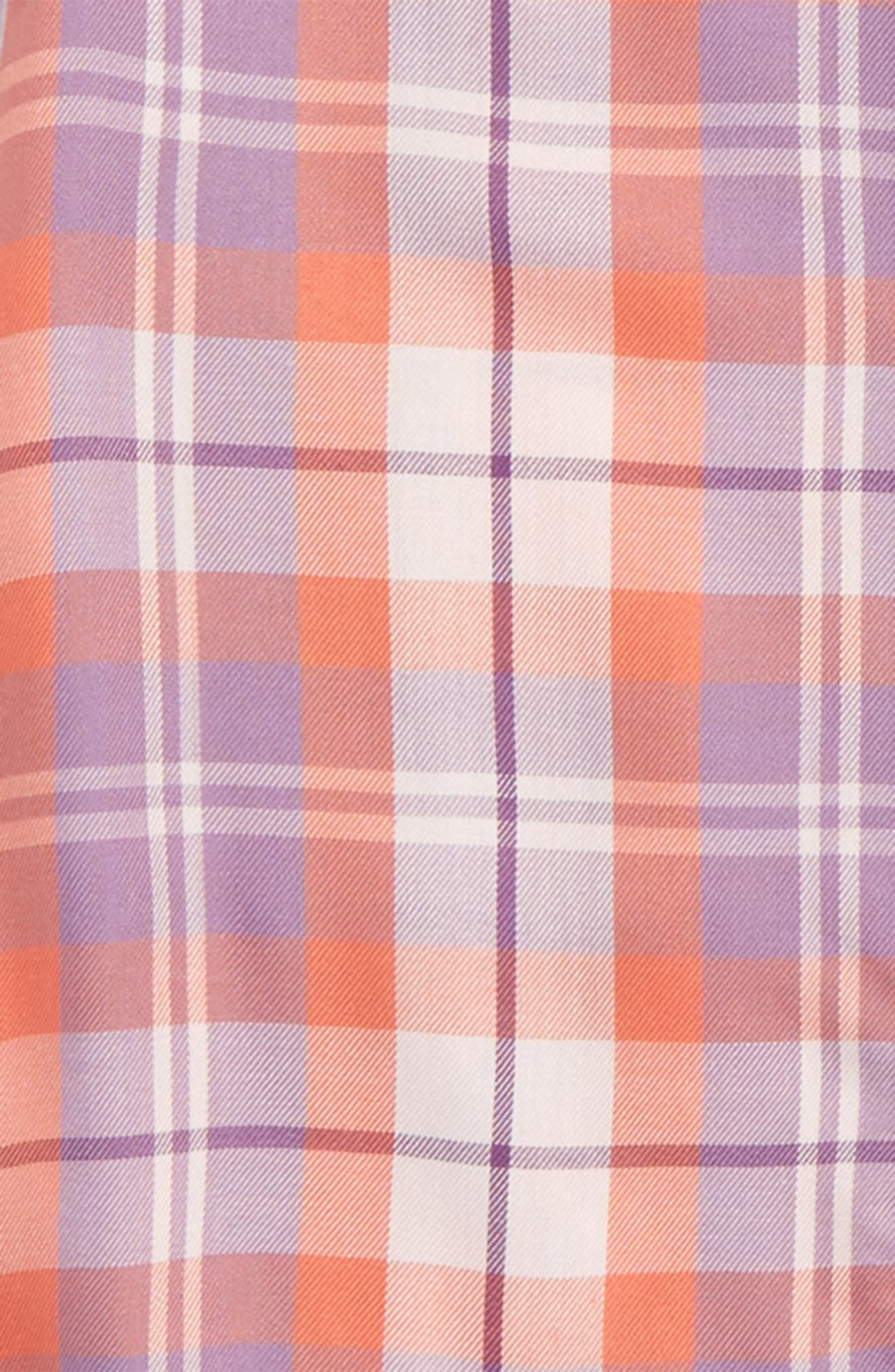 Fire Plaid Woven Shirt,                             Alternate thumbnail 8, color,