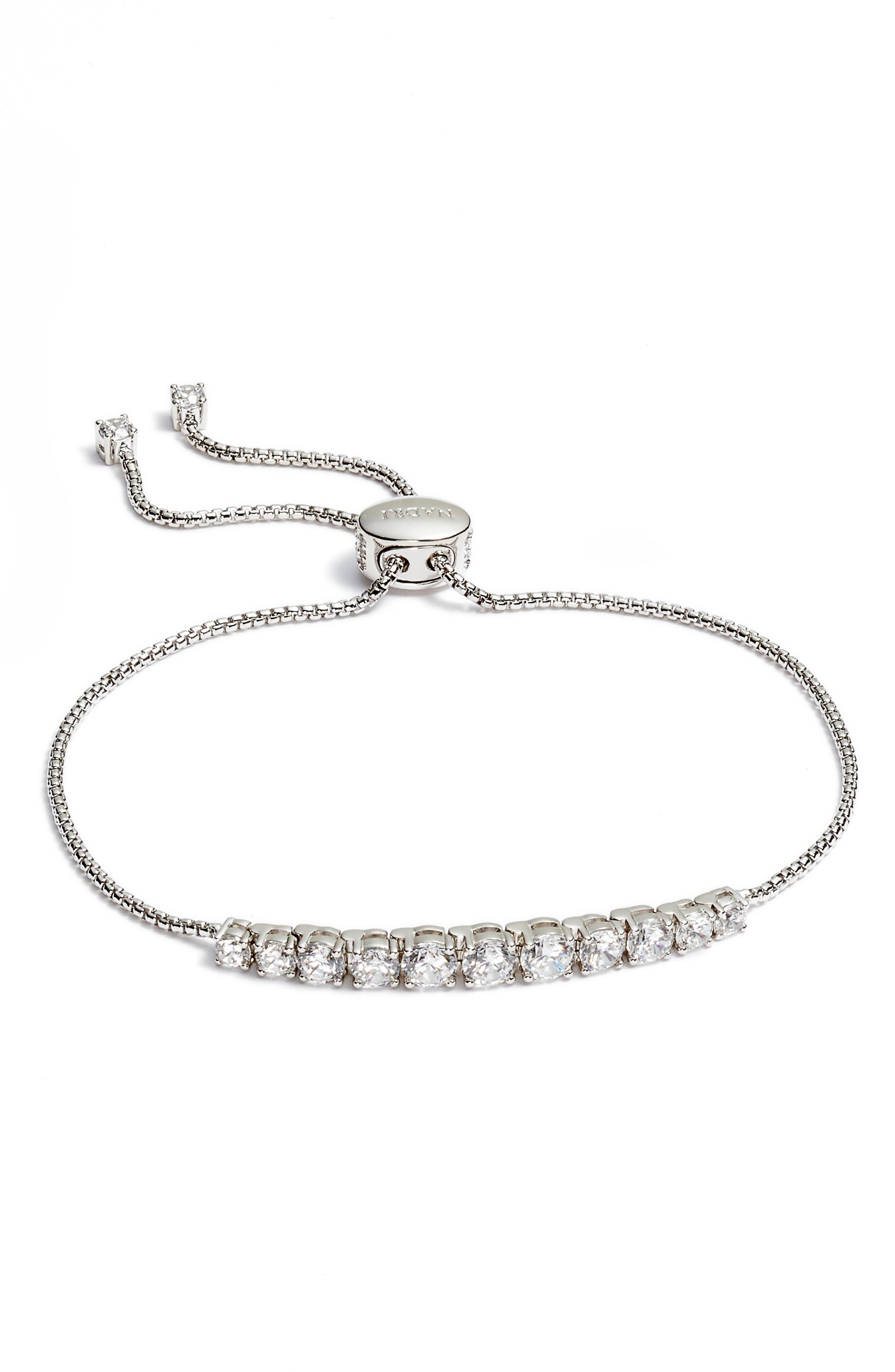 Crystal Bracelet,                         Main,                         color, SILVER