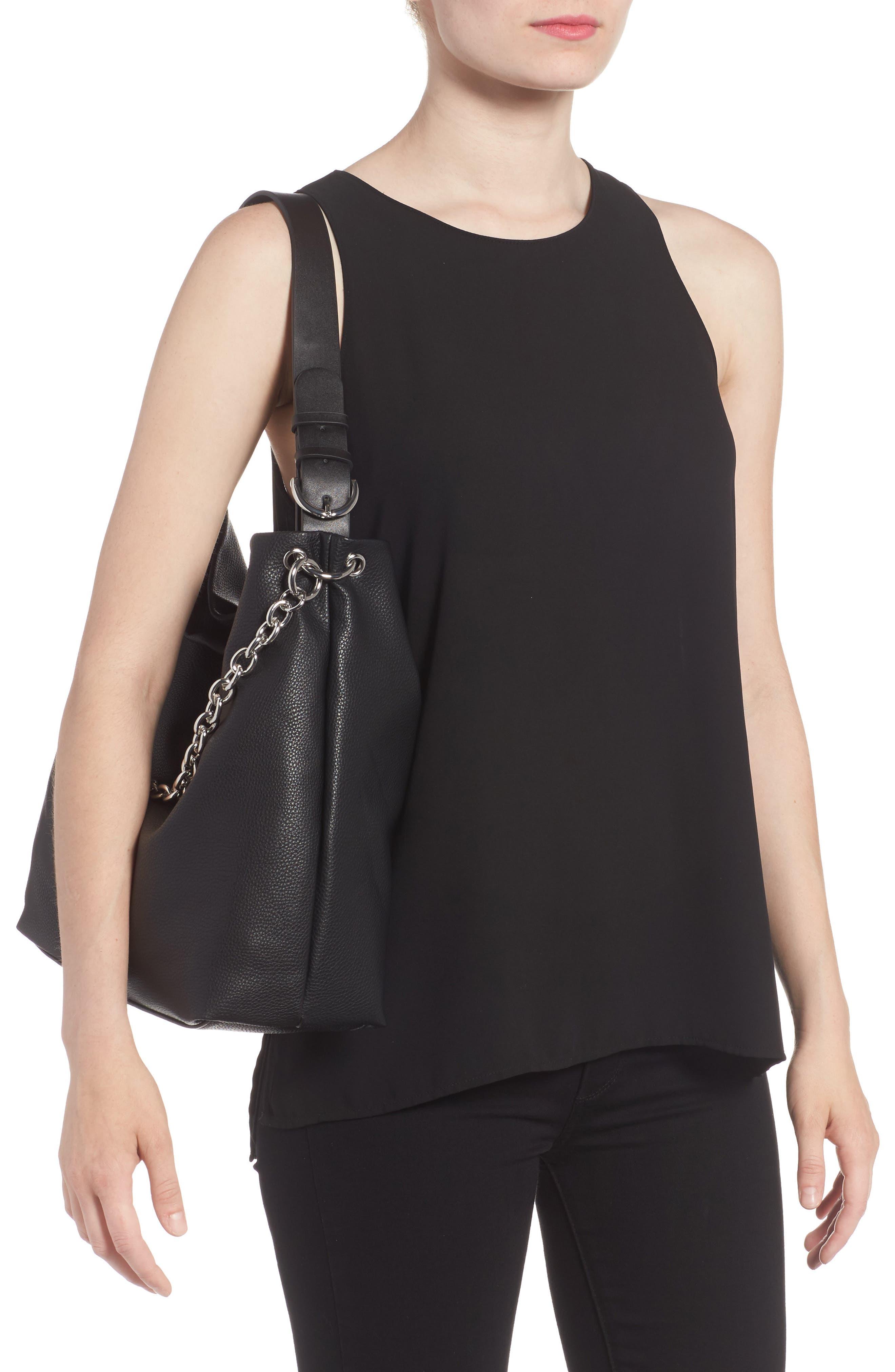 Taylor Faux Leather Shoulder Bag,                             Alternate thumbnail 4, color,