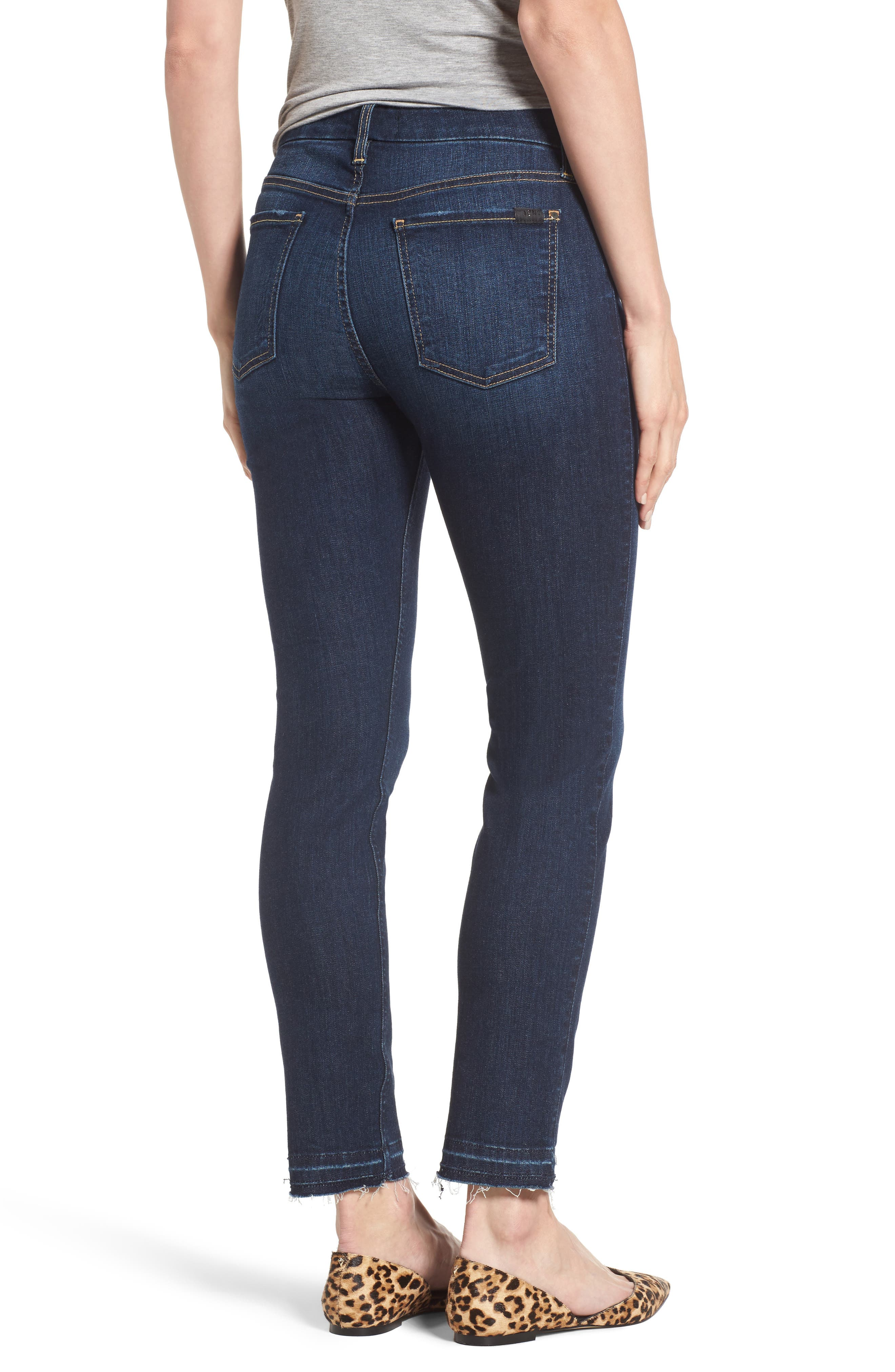 Release Hem Stretch Ankle Skinny Jeans,                             Alternate thumbnail 6, color,