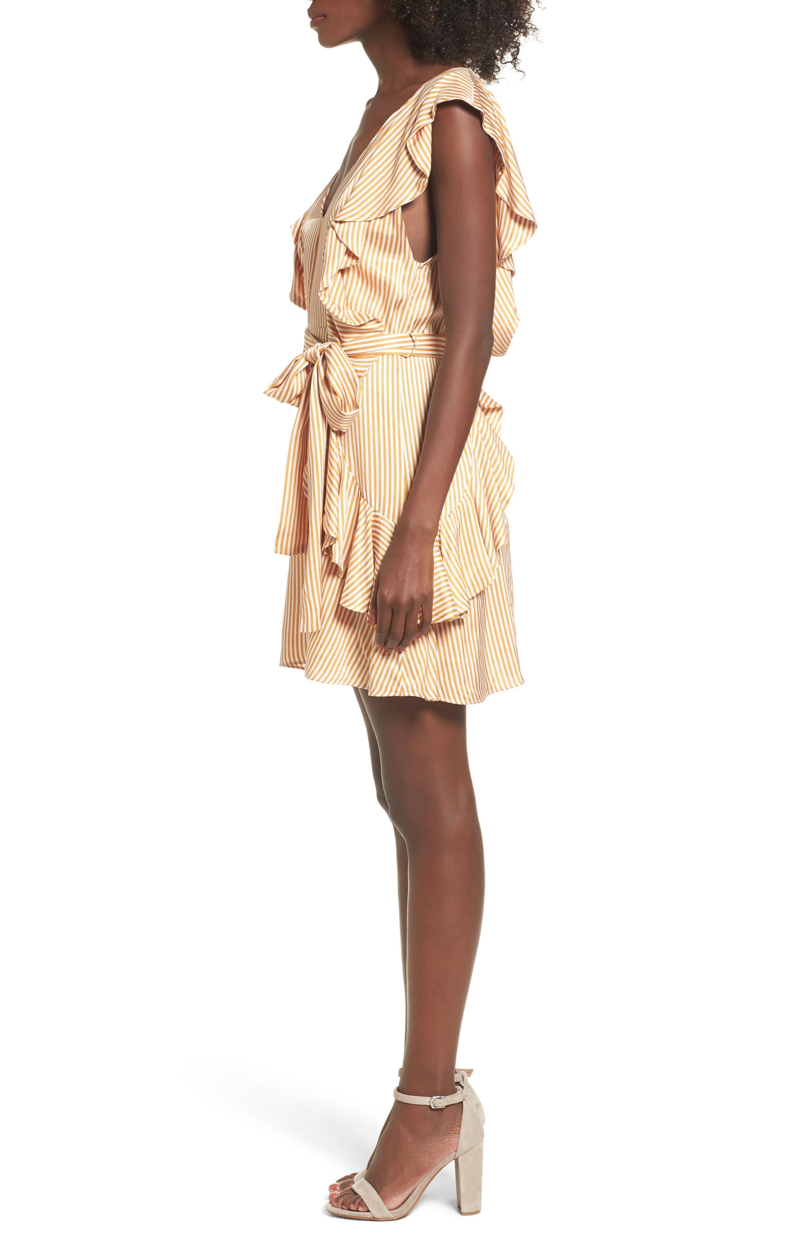 Clara Ruffle Minidress,                             Alternate thumbnail 3, color,                             250