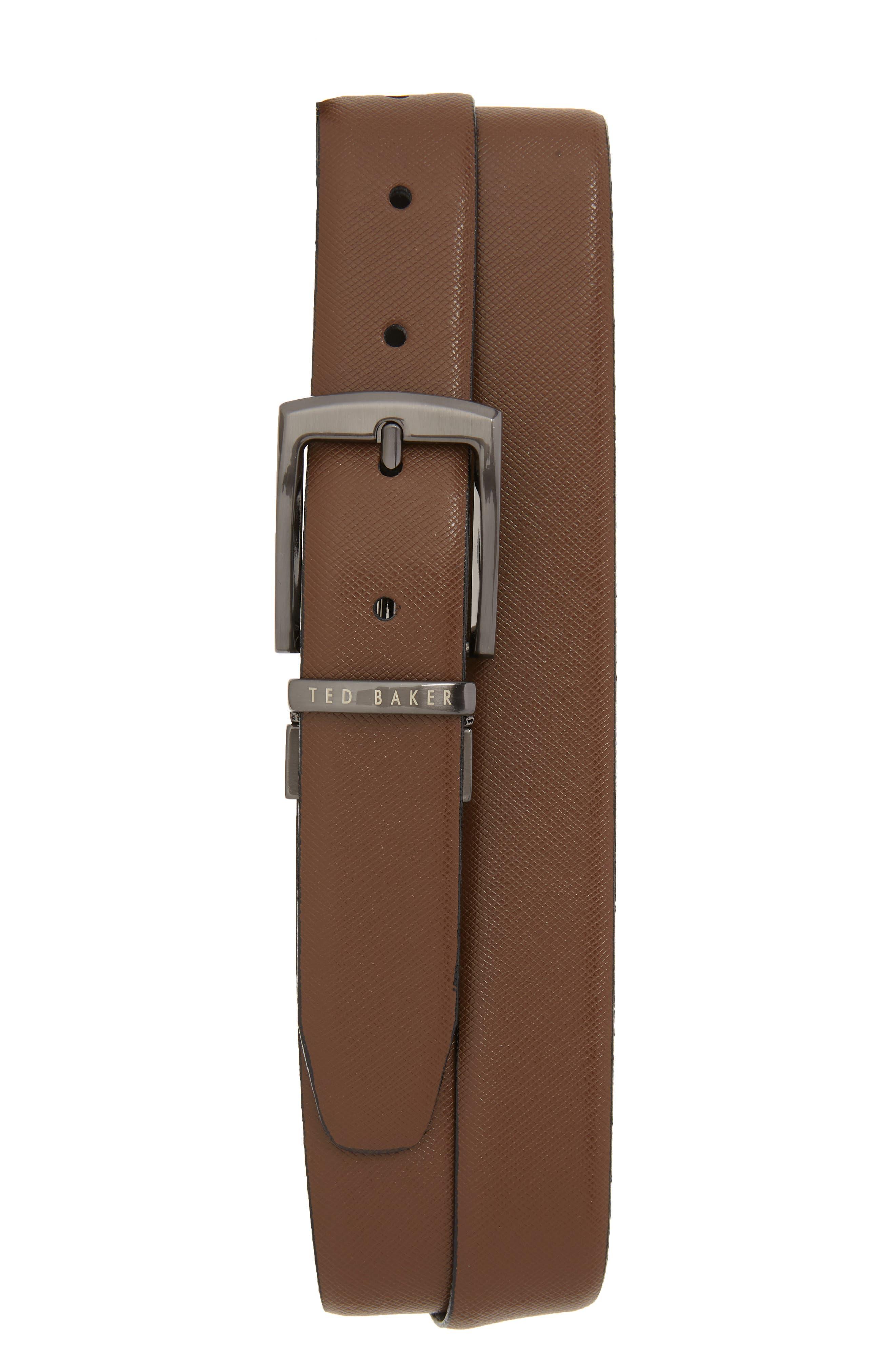 Ted Baker London Reversible Leather Belt, Navy
