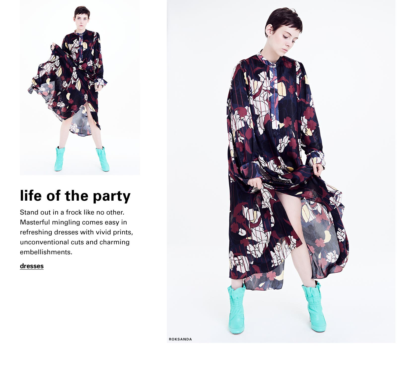 Be the life of the party: Anwyn floral silk dress from Roksanda.