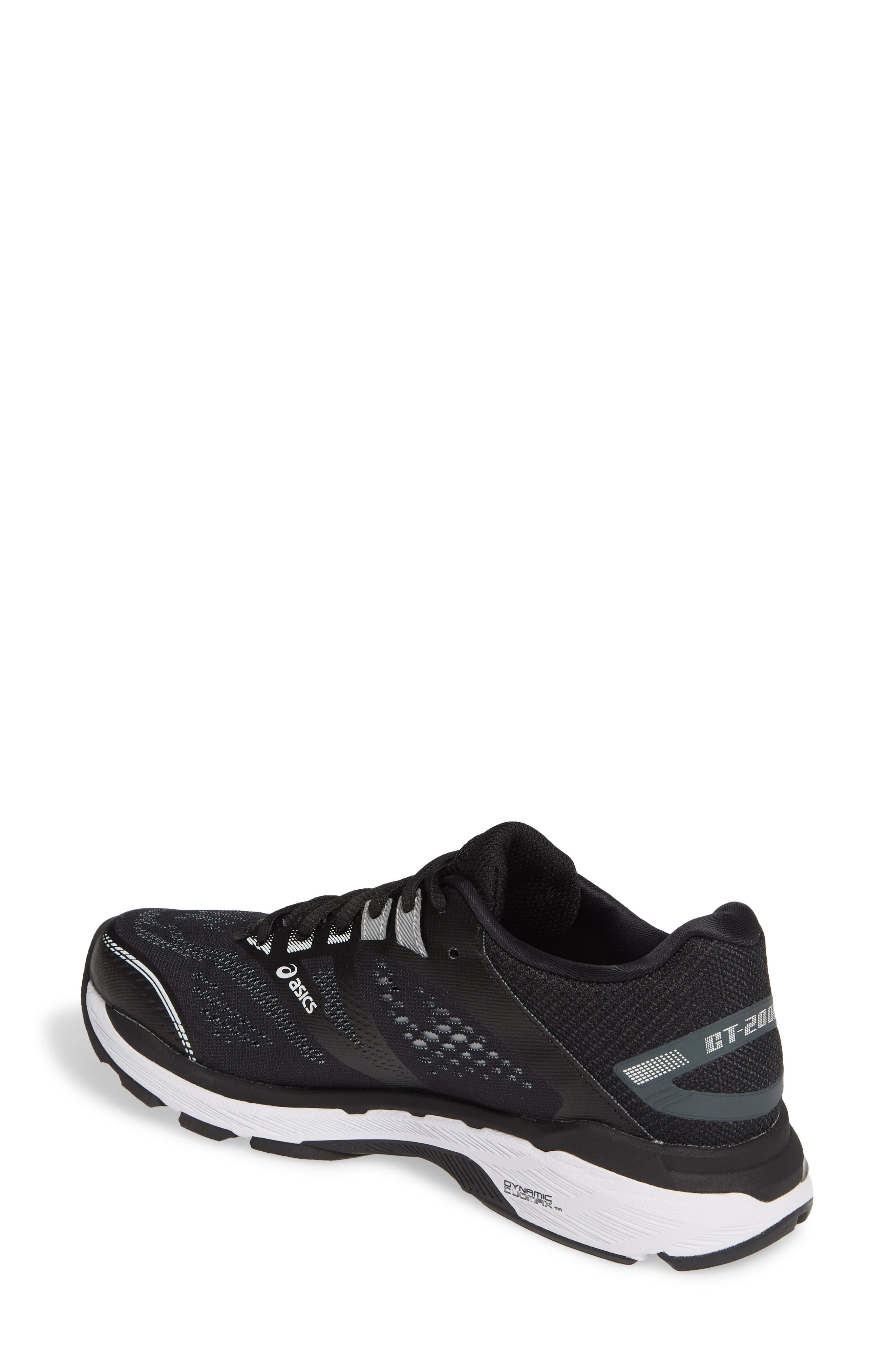 ASICS<SUP>®</SUP>,                             GT-2000 7 Running Shoe,                             Alternate thumbnail 2, color,                             BLACK/ WHITE