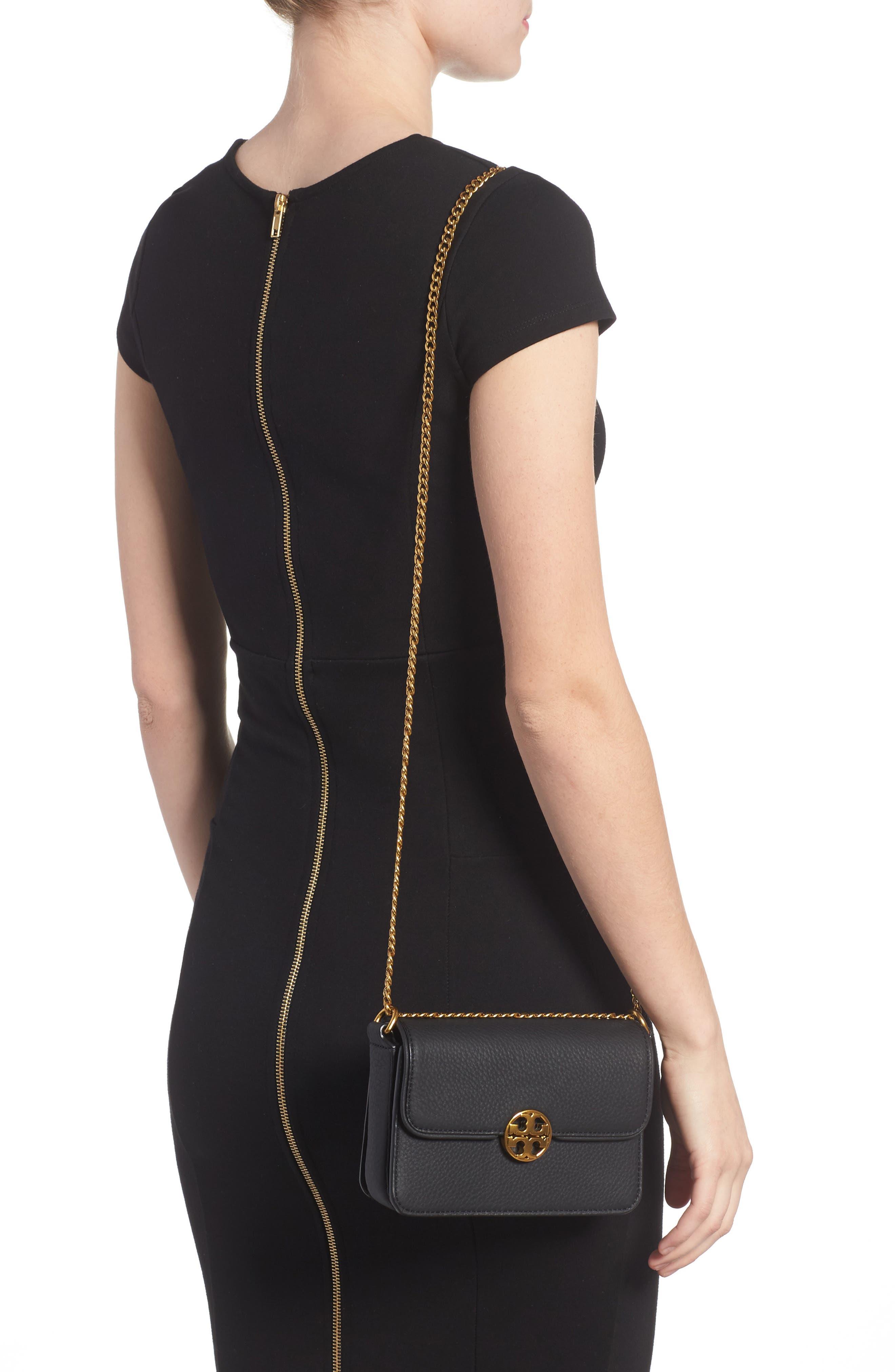 TORY BURCH,                             Mini Chelsea Leather Convertible Crossbody Bag,                             Alternate thumbnail 2, color,                             001