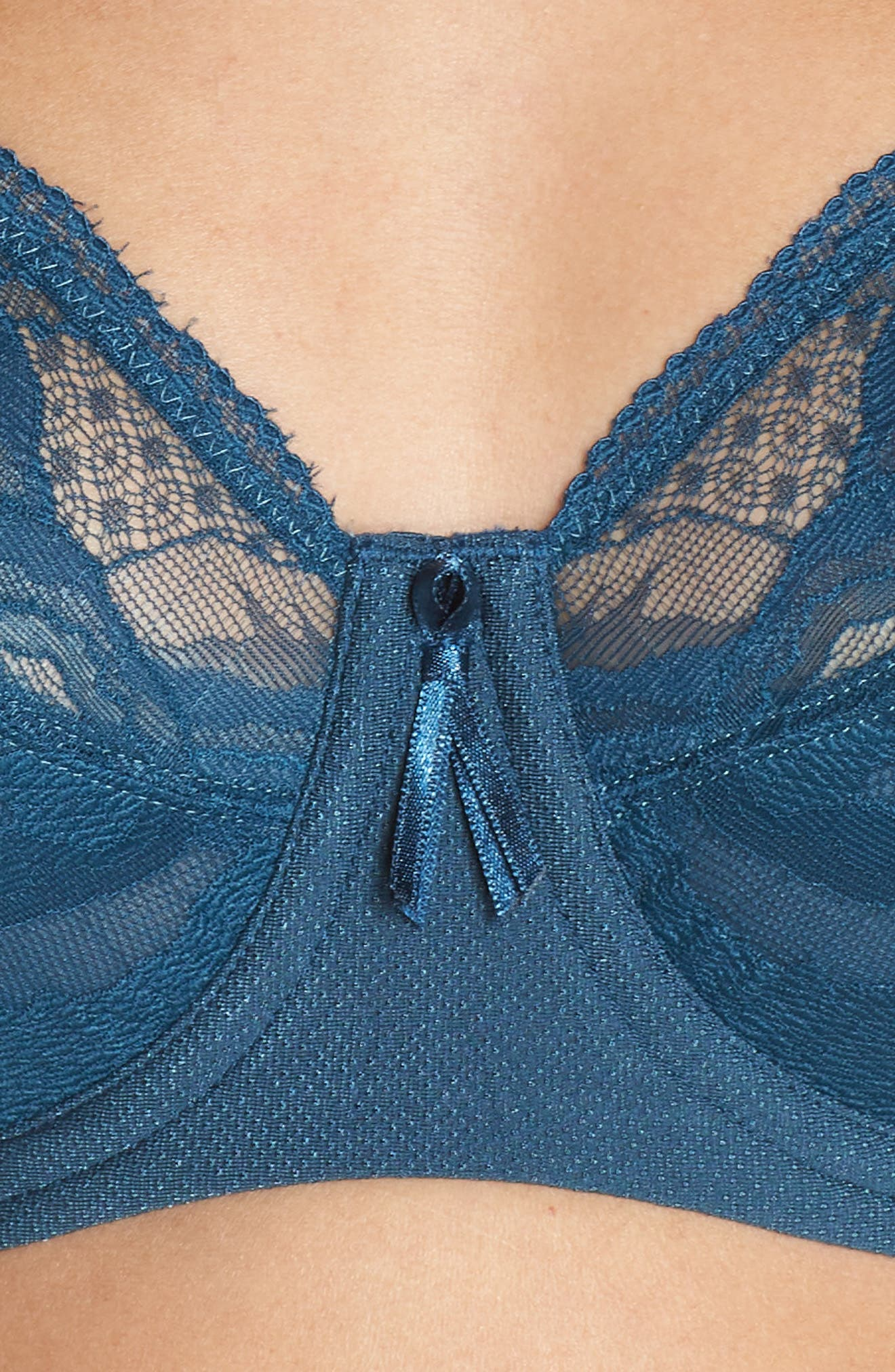 Top Tier Full-Figure Underwire Bra,                             Alternate thumbnail 4, color,                             MAJOLICA BLUE