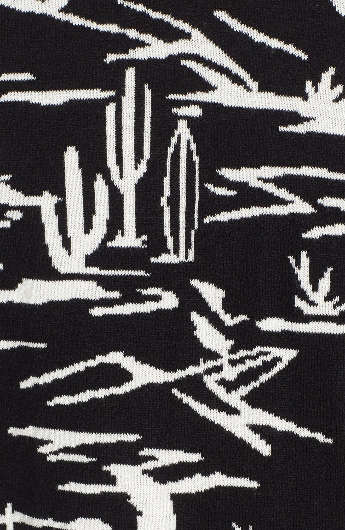 Jacquard Pattern Sweatshirt,                             Alternate thumbnail 5, color,                             002