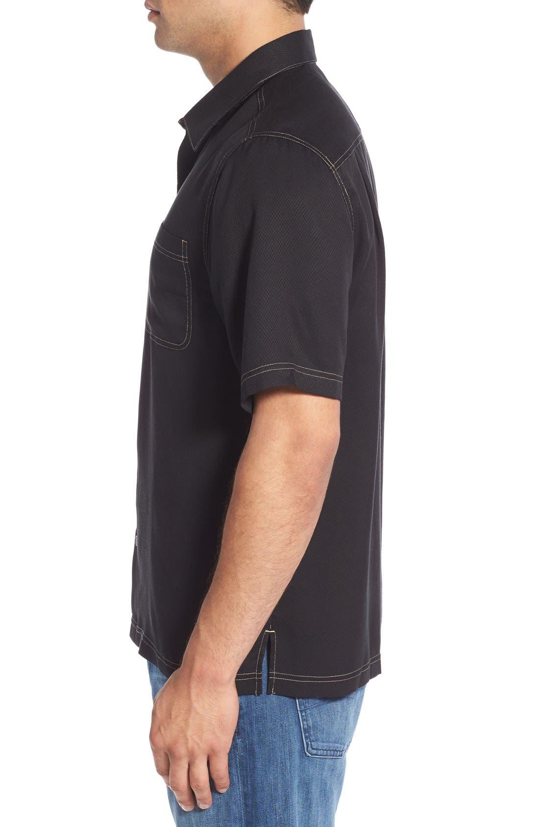 'Honeycomb' Regular Fit Short Sleeve Textured Sport Shirt,                             Alternate thumbnail 17, color,