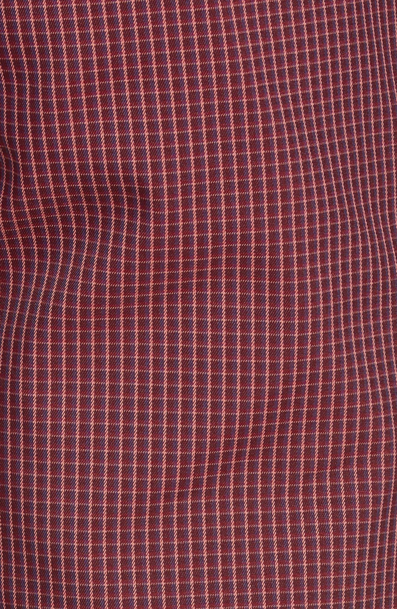 Highland Slim Fit Golf Pants,                             Alternate thumbnail 5, color,                             RED PLAID