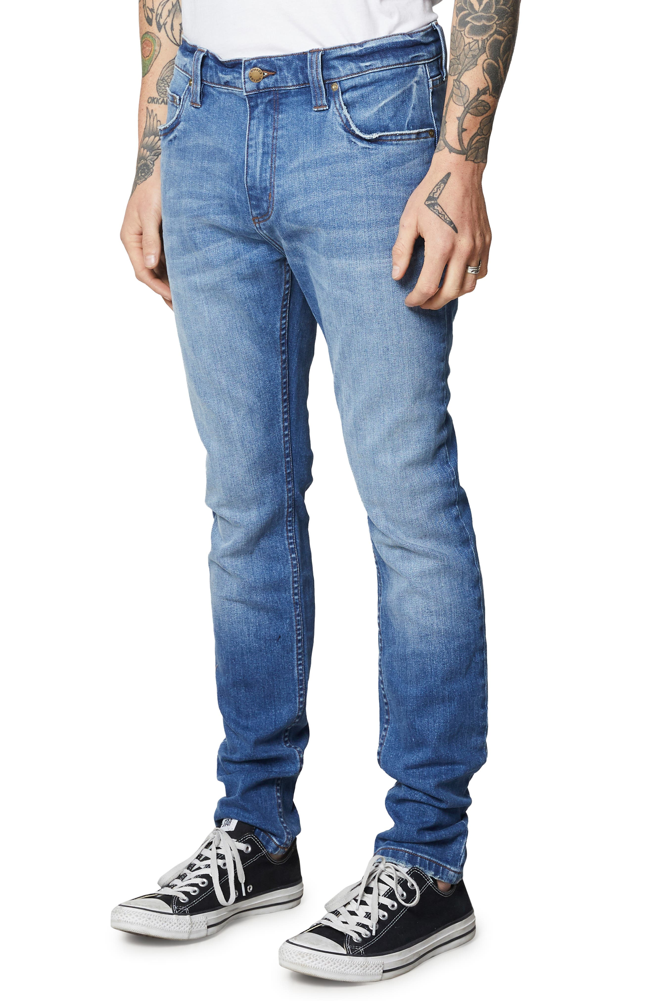 Stinger Skinny Fit Jeans,                             Alternate thumbnail 3, color,                             HOMESPUN CRUSH