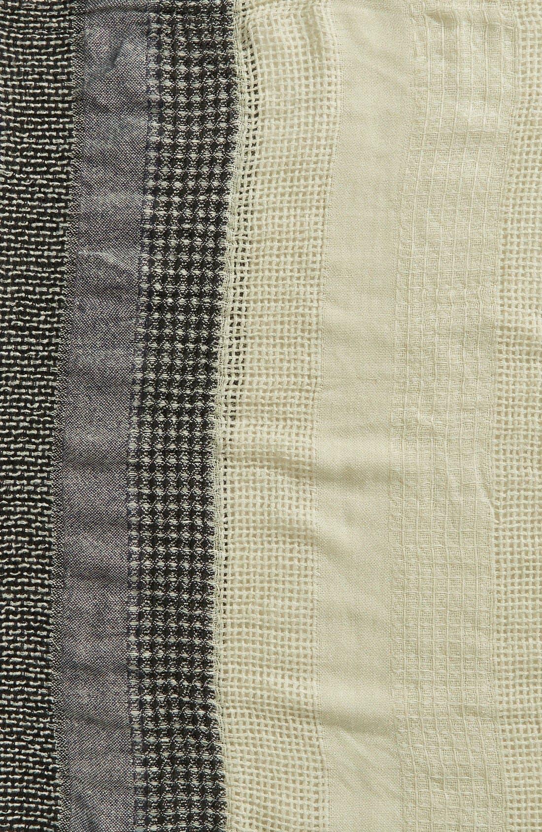 Stripe Open Weave Infinity Scarf,                             Alternate thumbnail 3, color,                             030