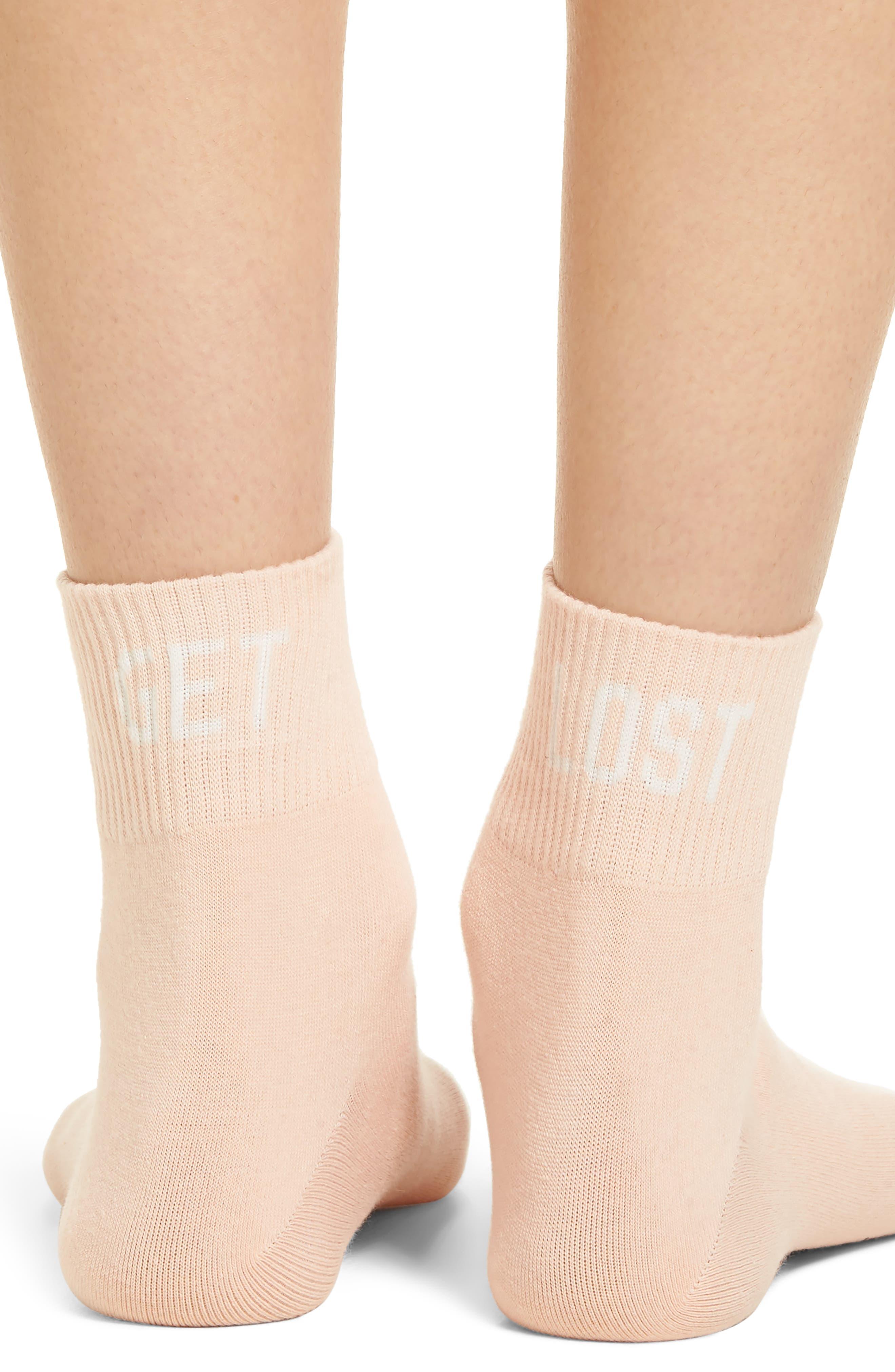 Get Lost Ankle Socks,                             Alternate thumbnail 3, color,                             630