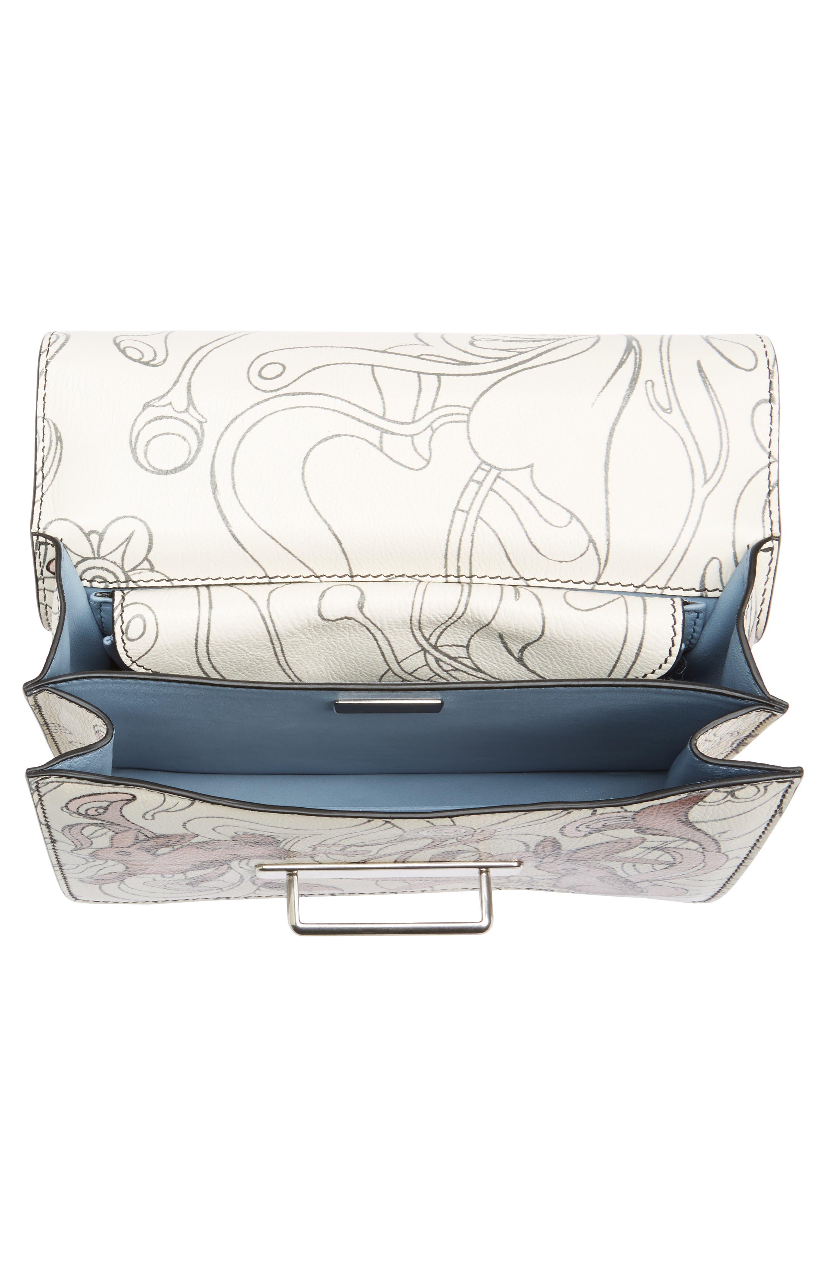 Cahier Calfskin Shoulder Bag,                             Alternate thumbnail 4, color,                             100