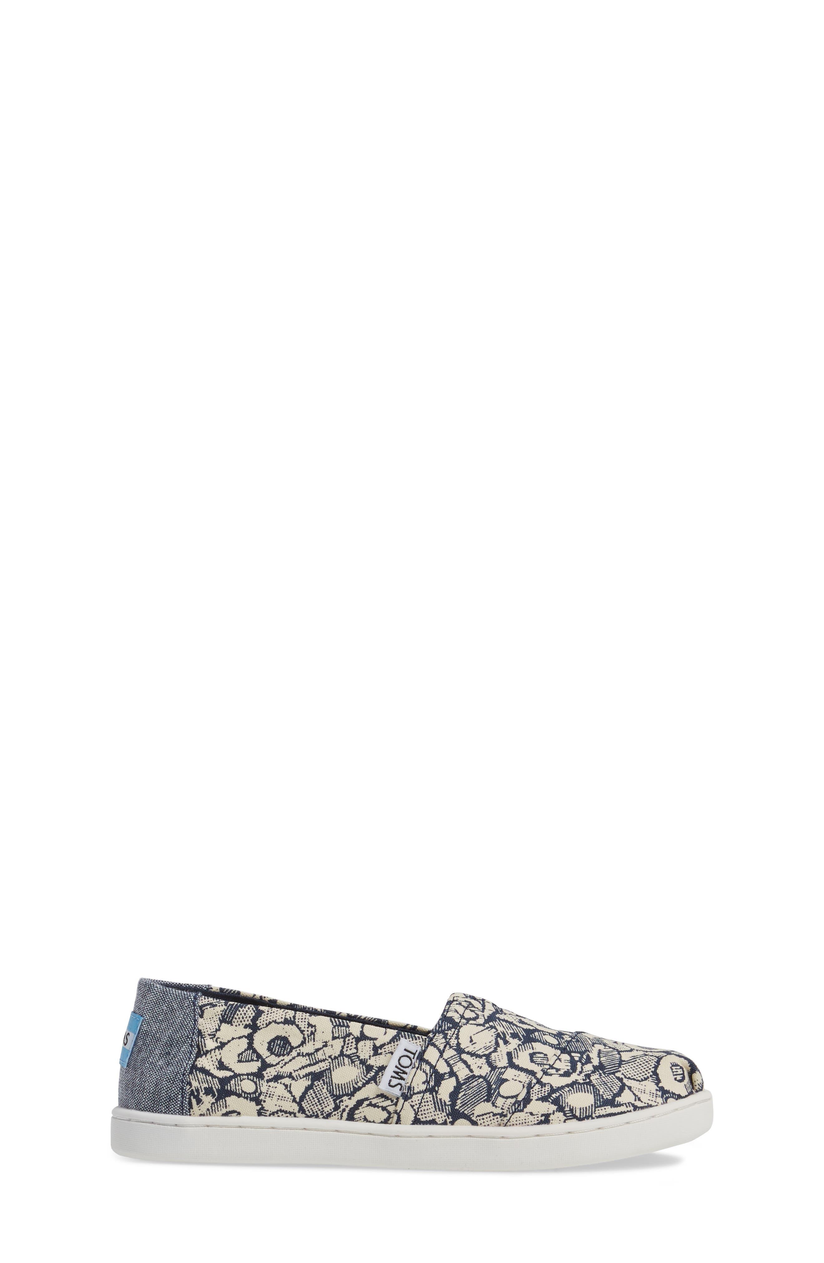 Classic Floral Camo Slip-On,                             Alternate thumbnail 3, color,                             410