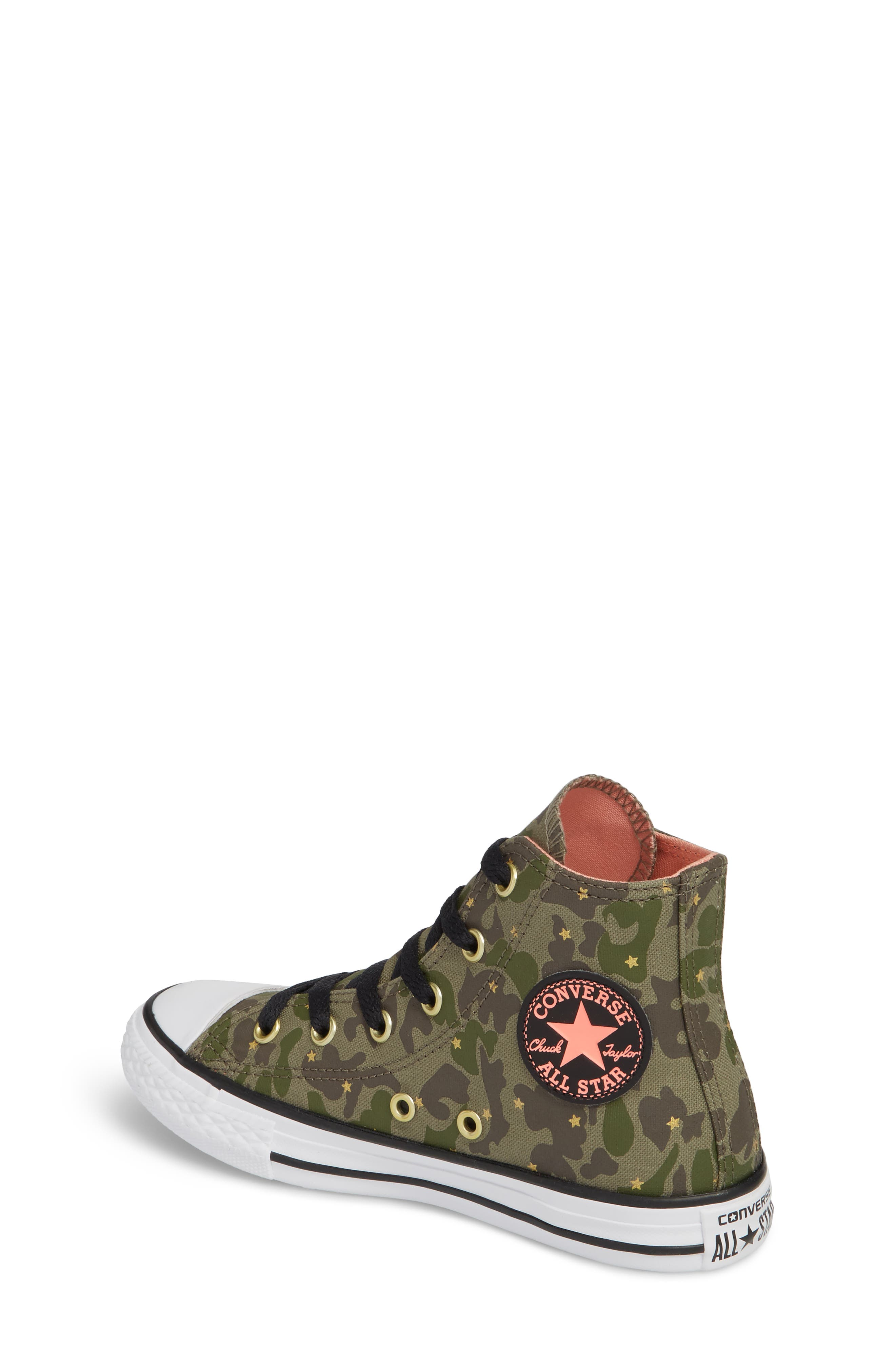 Camo High Top Sneaker,                             Alternate thumbnail 2, color,