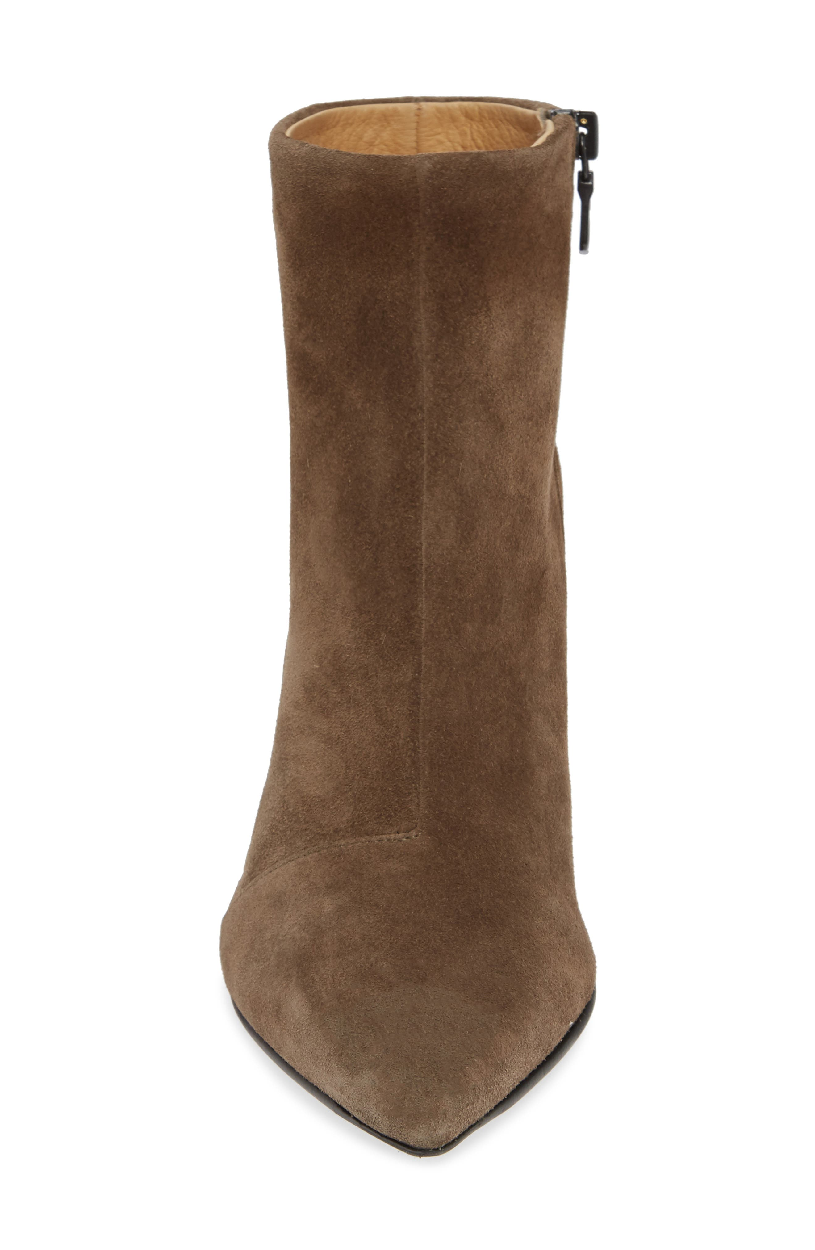 Beha Pointy Toe Bootie,                             Alternate thumbnail 4, color,                             TAUPE SUEDE
