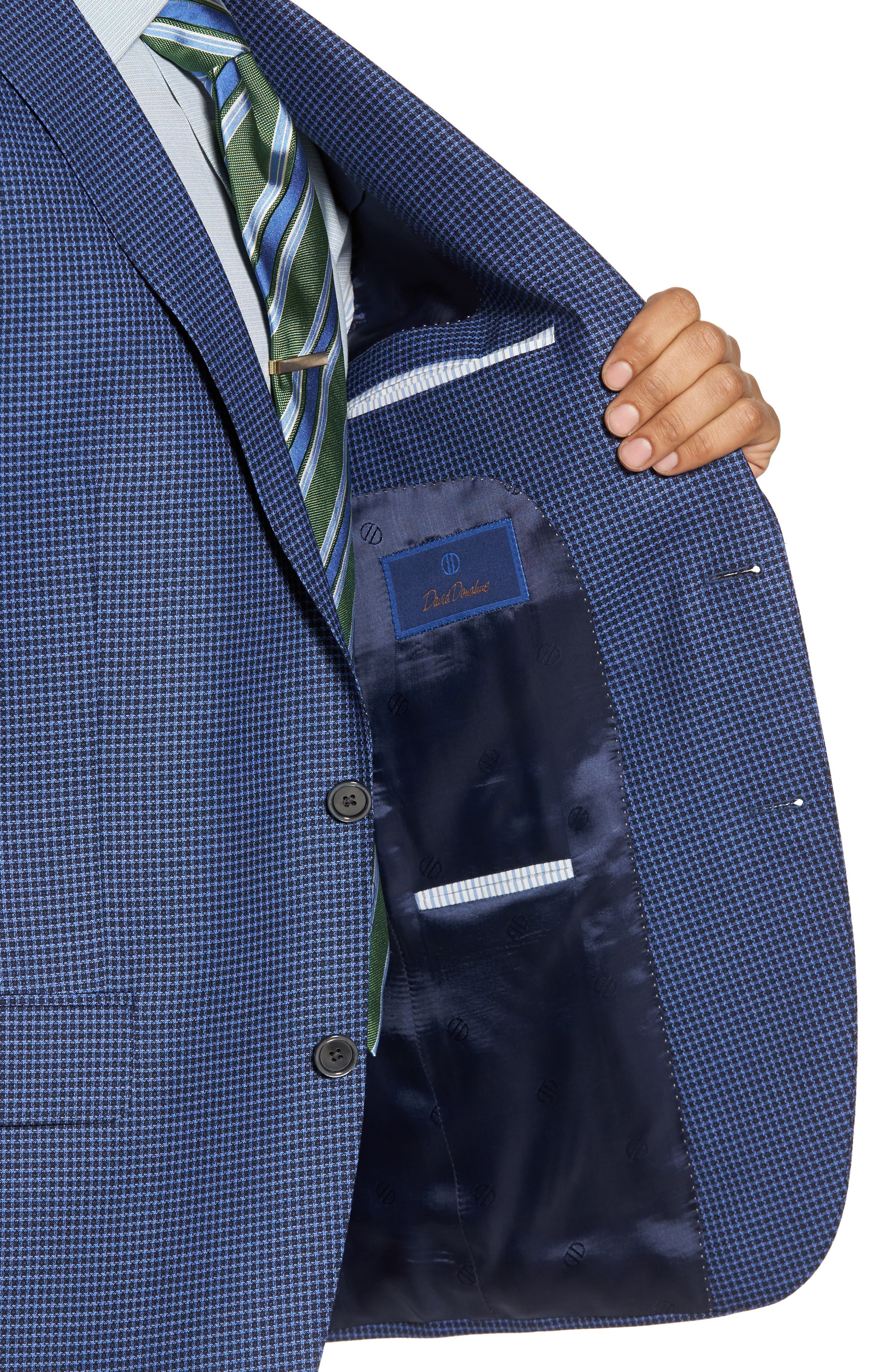 Arnold Classic Fit Check Wool Sport Coat,                             Alternate thumbnail 4, color,