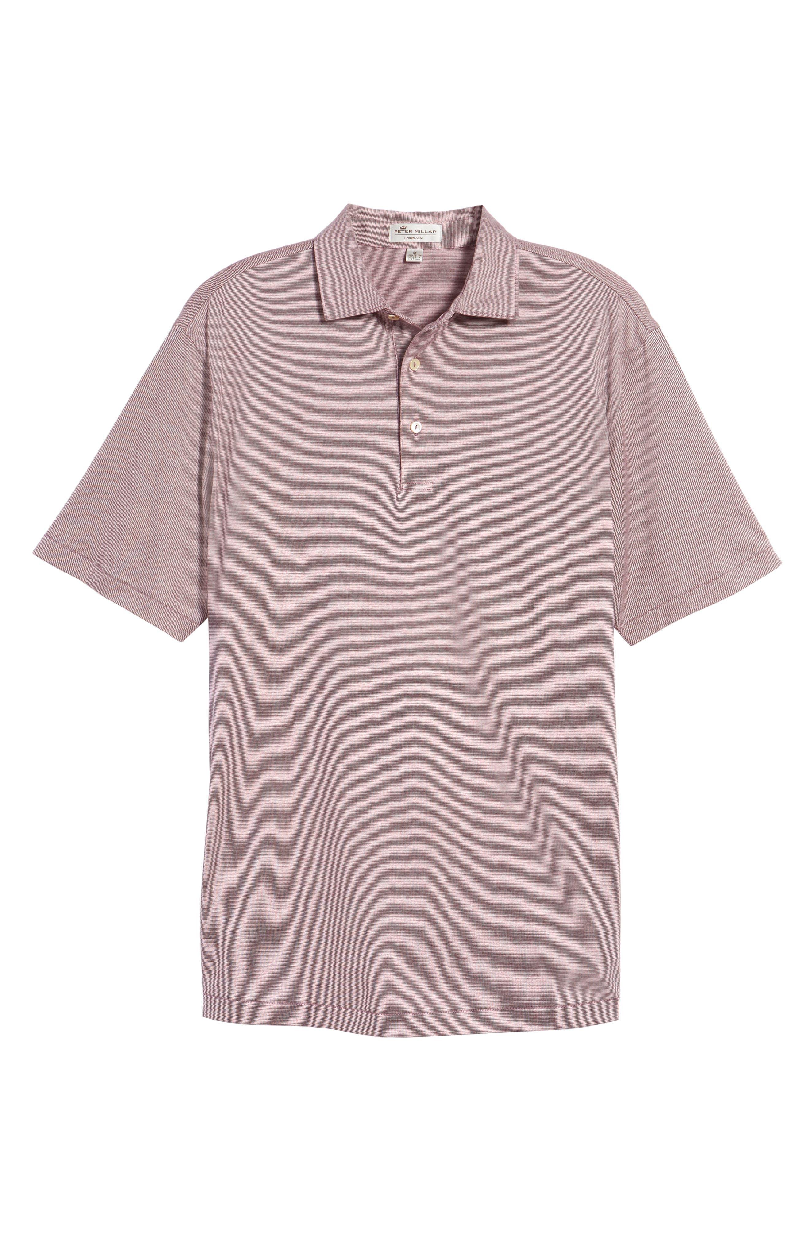 Briarwood Stripe Cotton Polo,                             Alternate thumbnail 6, color,                             PULPO