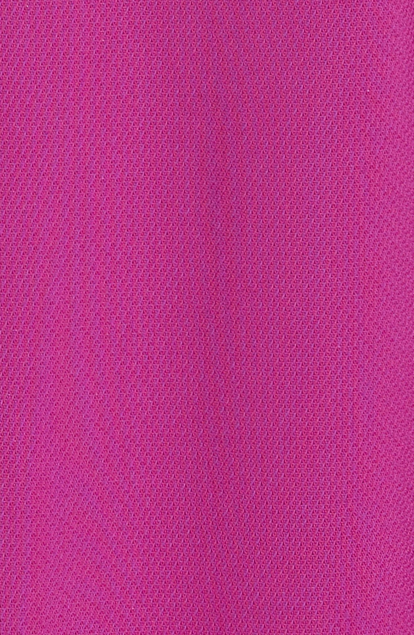Pleated Crop Trousers,                             Alternate thumbnail 5, color,                             FUCHSIA