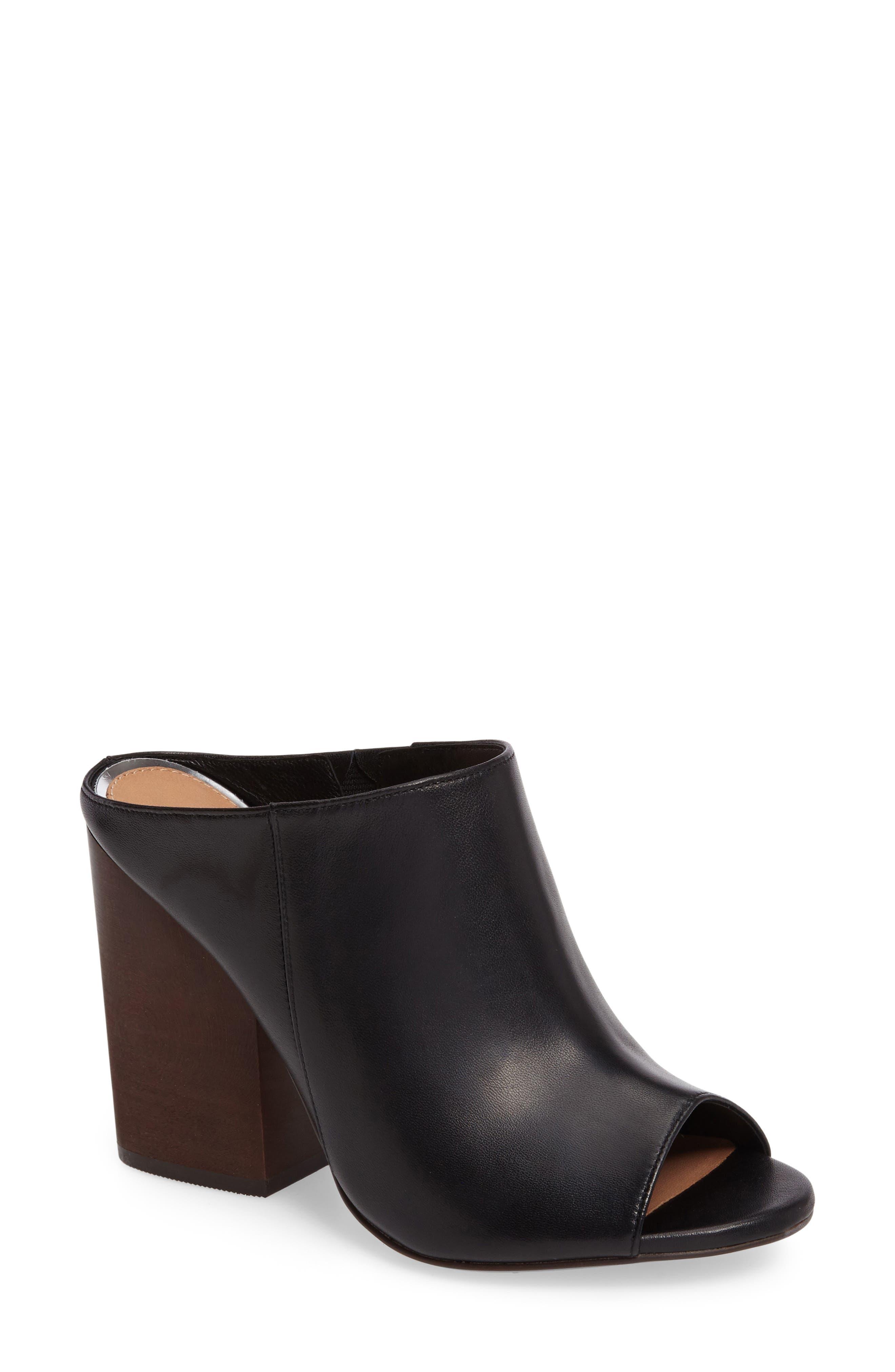 Gabby Block Heel Mule,                         Main,                         color, 004