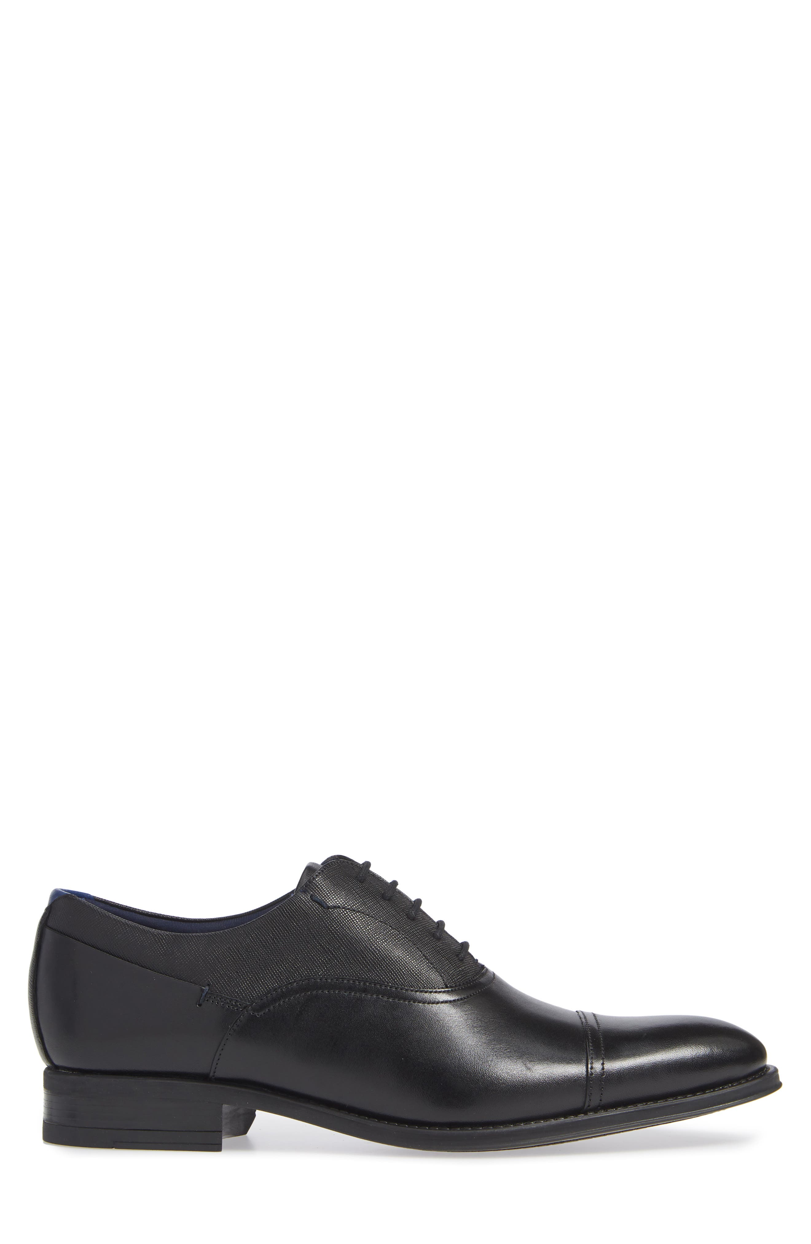 Fhares Cap Toe Oxford,                             Alternate thumbnail 3, color,                             BLACK