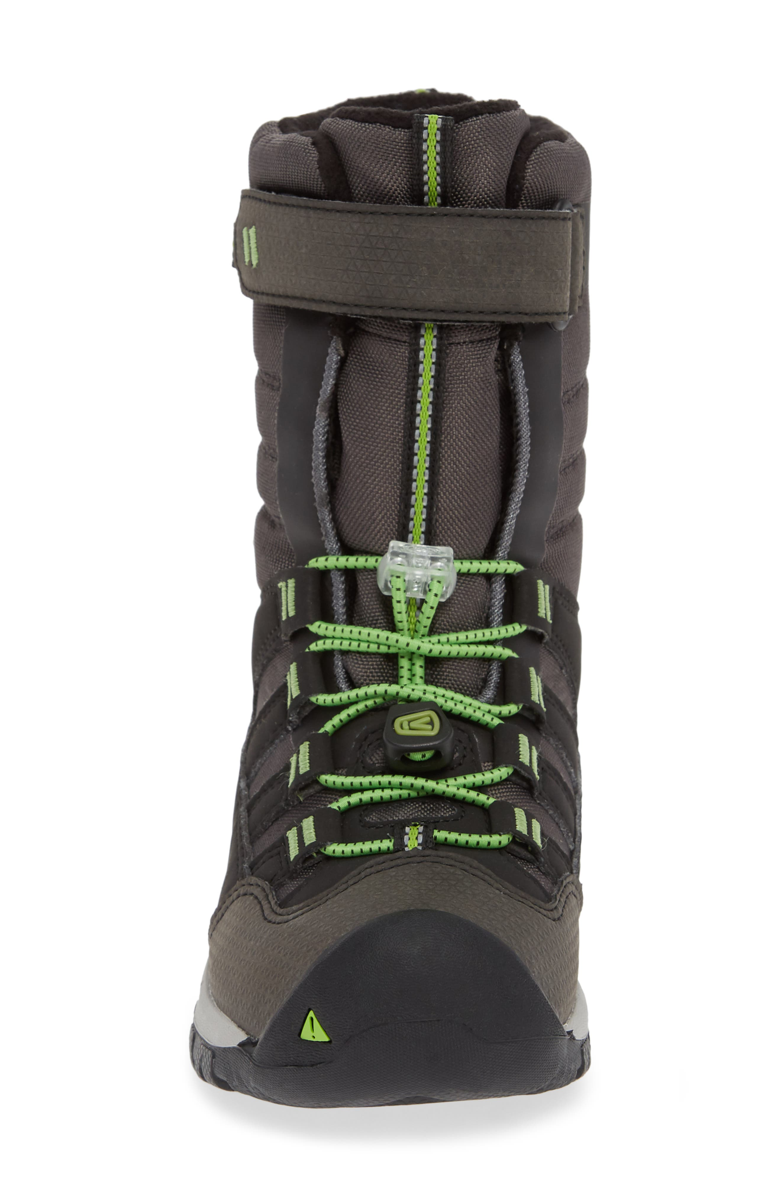 Winterport Neo Waterproof Insulated Boot,                             Alternate thumbnail 4, color,                             BLACK/ GREENERY
