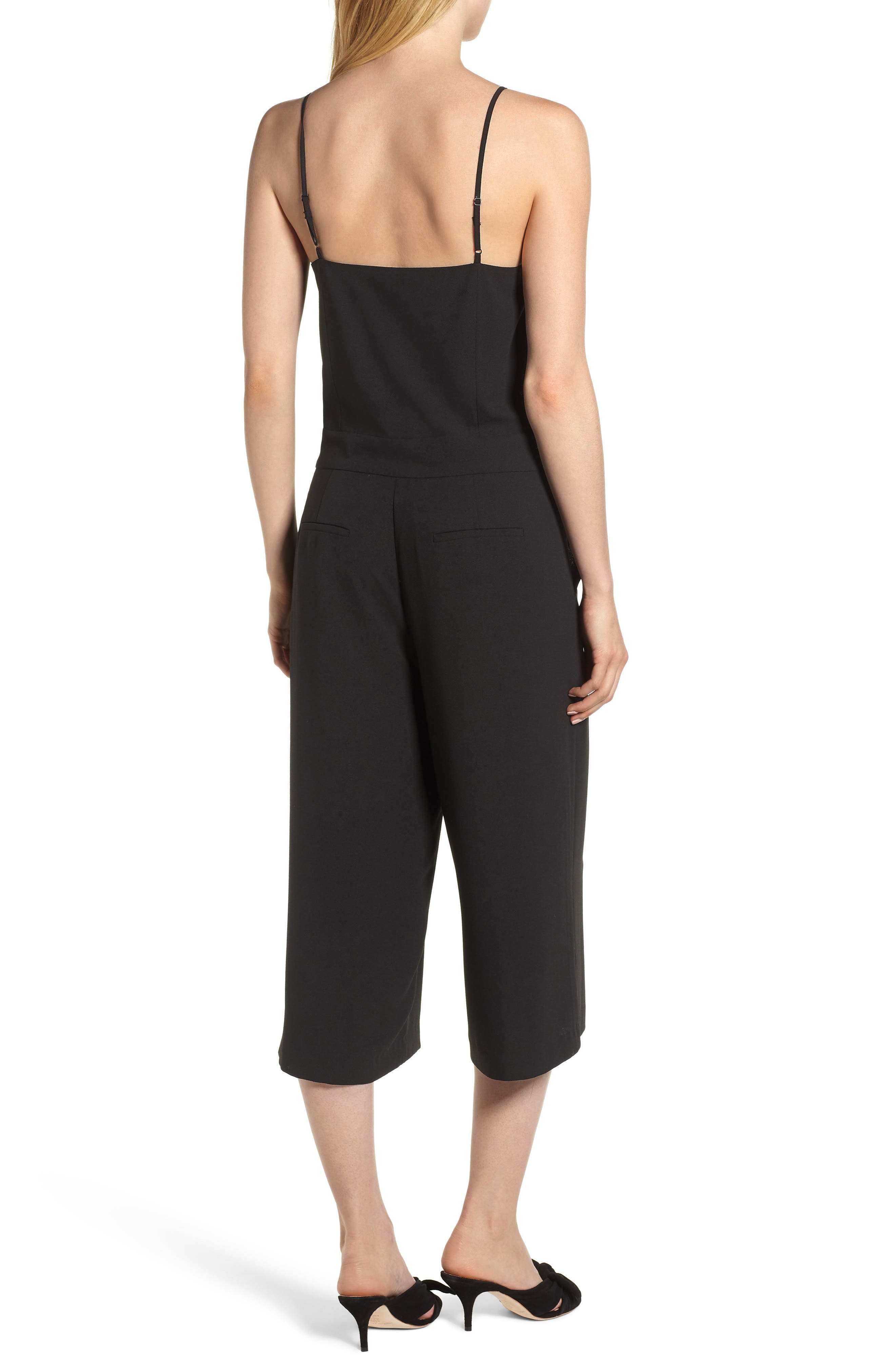 Spaghetti Strap Culotte Jumpsuit,                             Alternate thumbnail 2, color,                             006