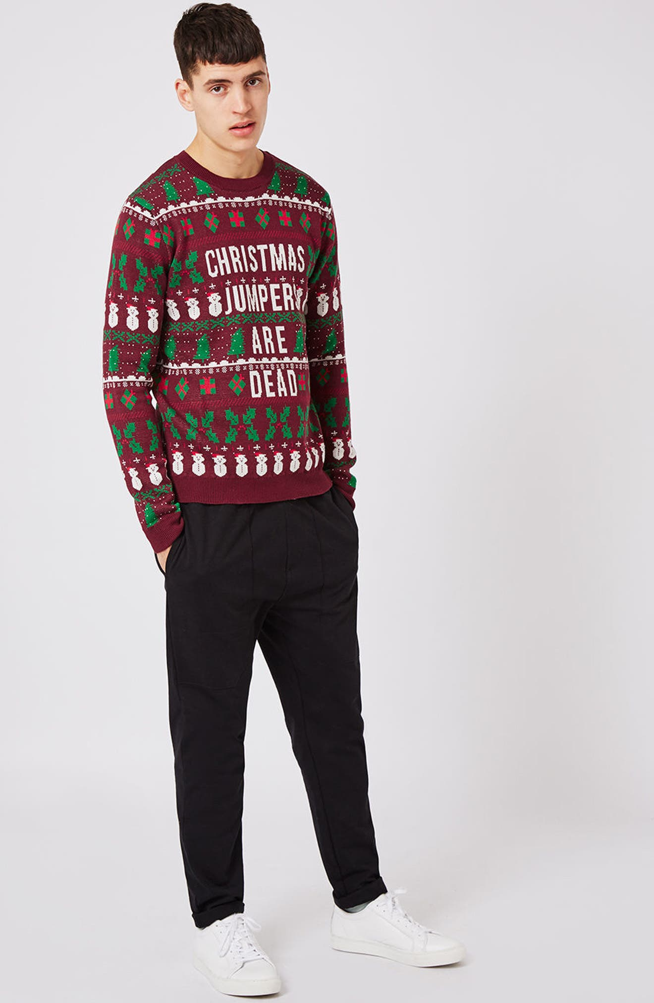 Christmas Jumpers Are Dead Sweater,                             Alternate thumbnail 5, color,                             930