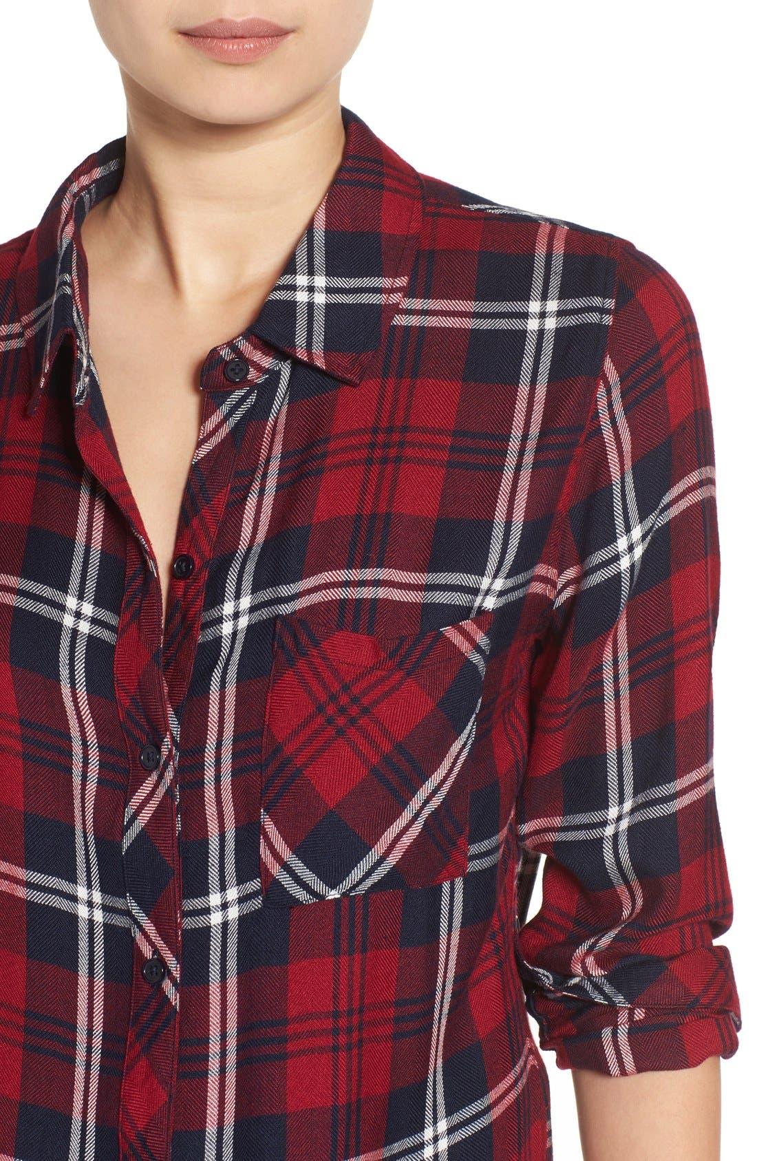 Hunter Plaid Shirt,                             Alternate thumbnail 666, color,