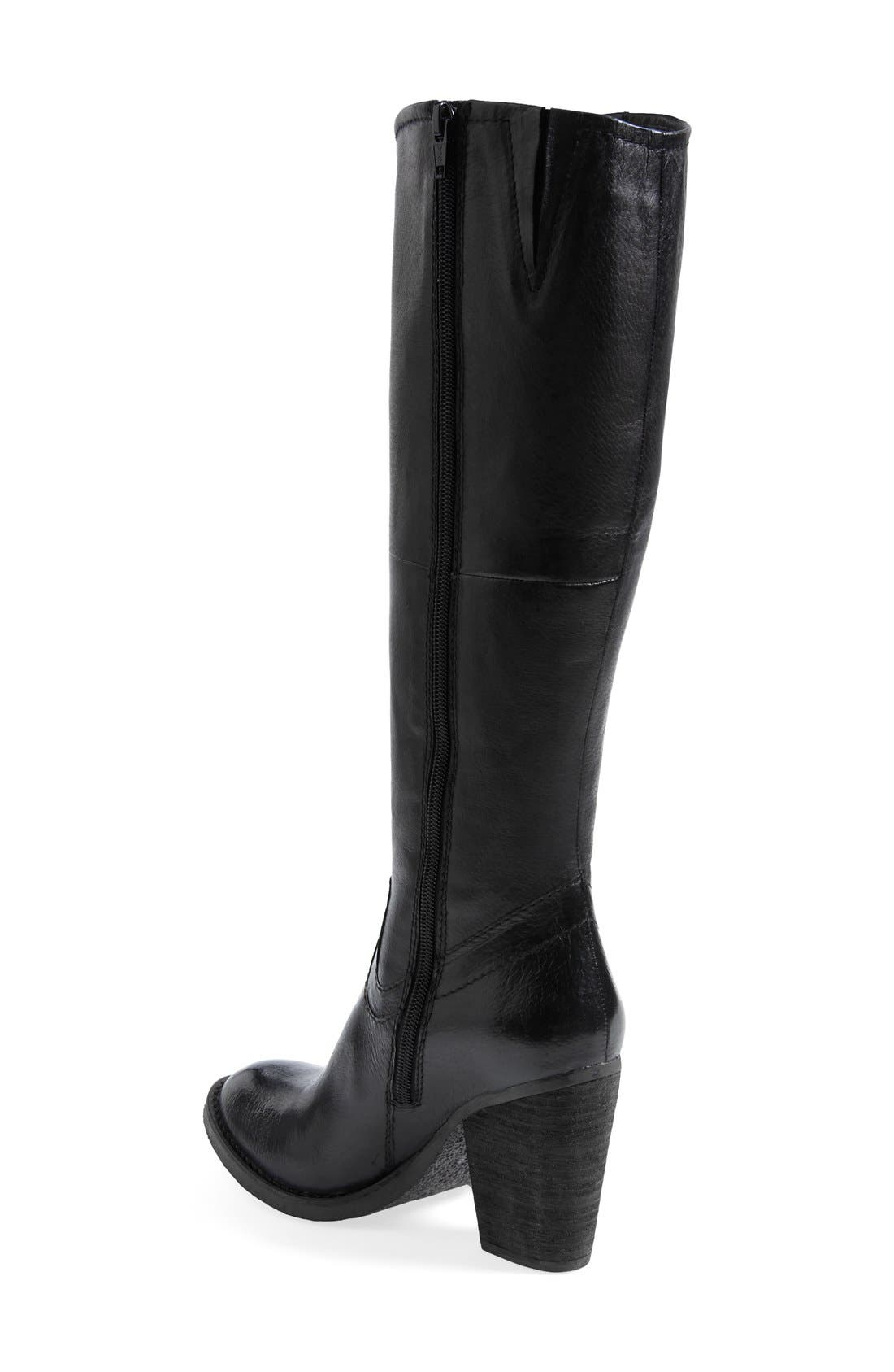 'Carrter' Knee High Leather Boot,                             Alternate thumbnail 2, color,                             001