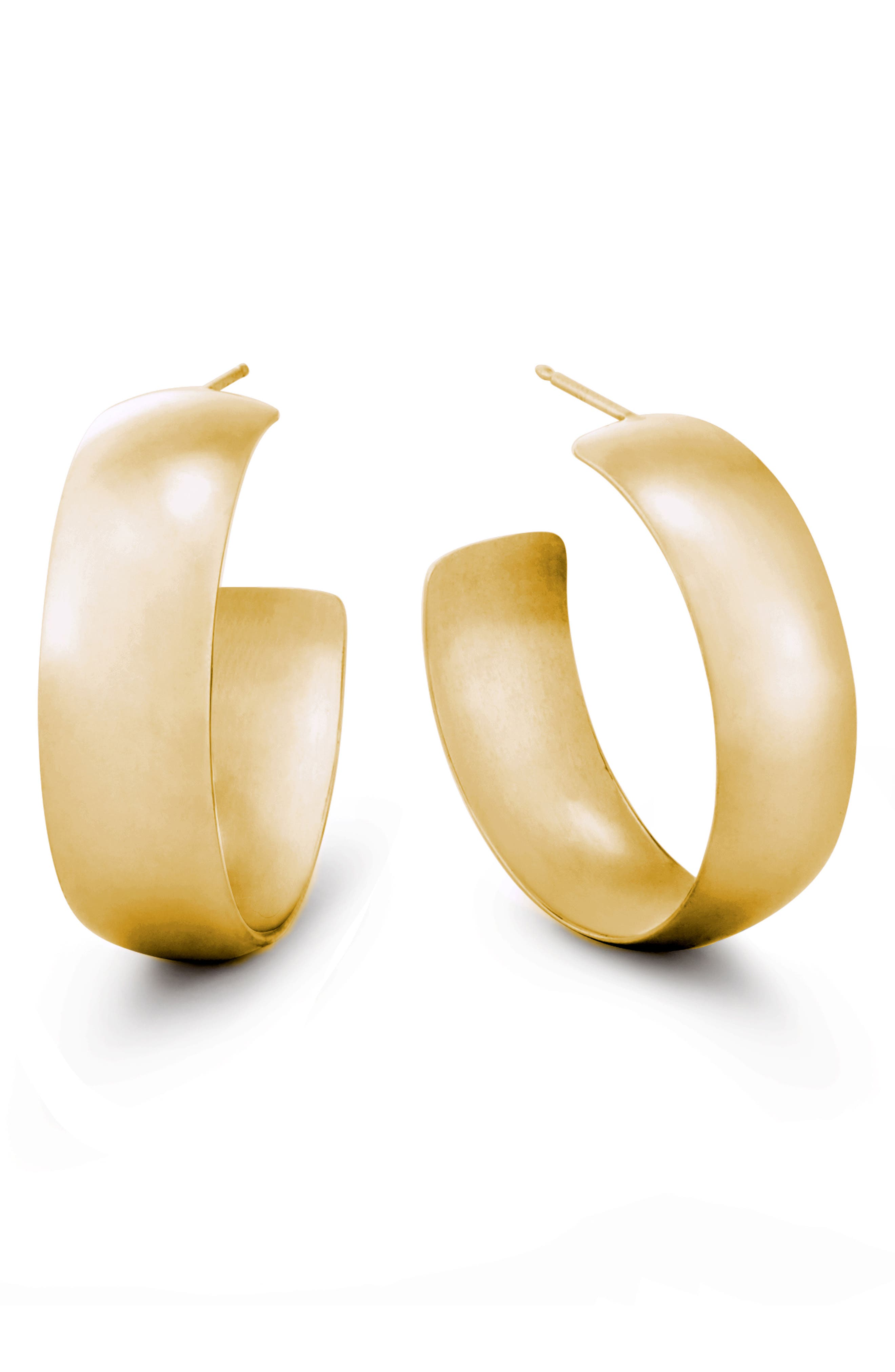 Curve Wide Bubble Hoop Earrings,                             Main thumbnail 1, color,                             YELLOW GOLD