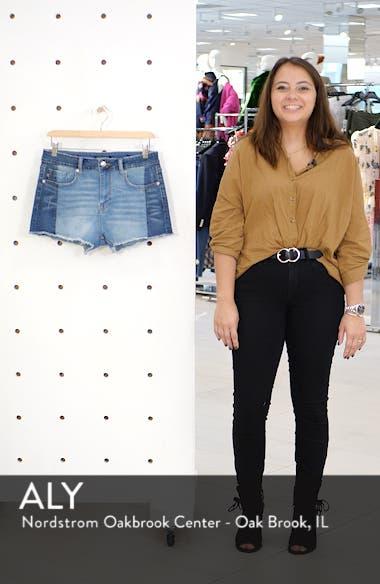 Colorblock Denim Shorts, sales video thumbnail