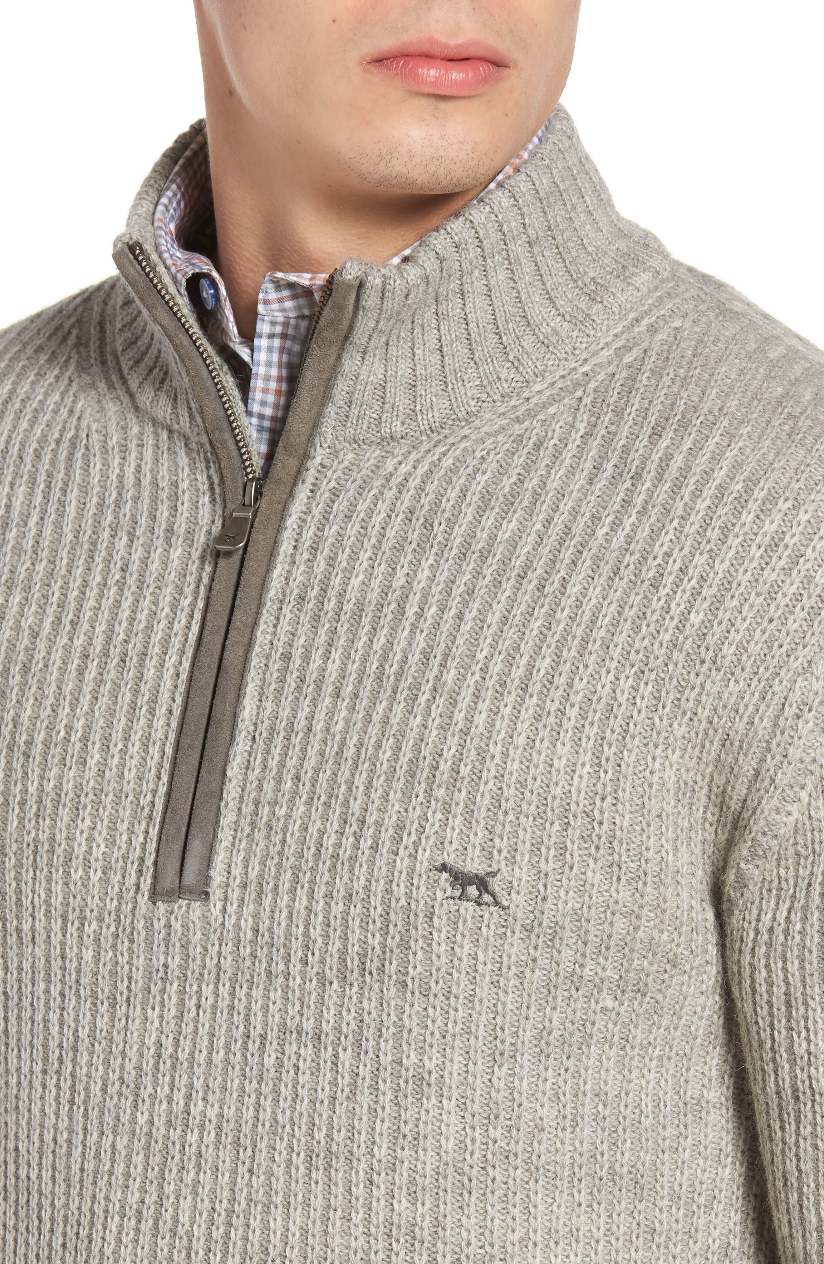 'Huka Lodge' Merino Wool Blend Quarter Zip Sweater,                             Alternate thumbnail 4, color,                             268