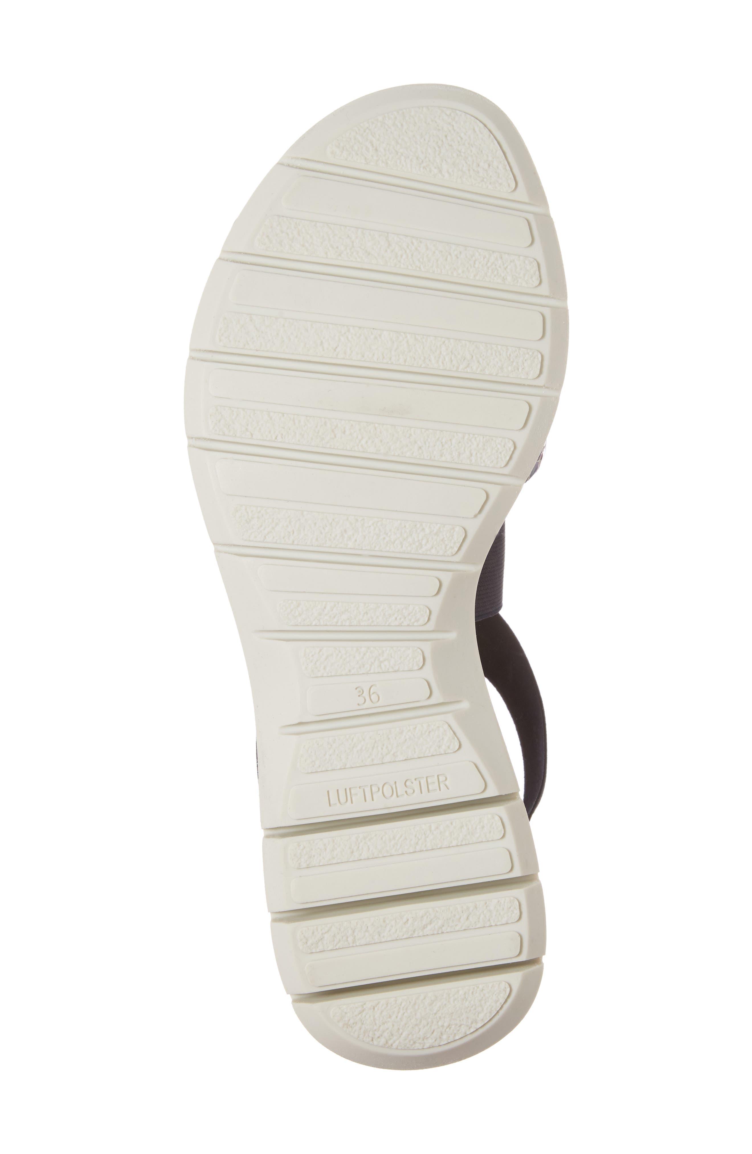 Larissa Cross Strap Wedge Sandal,                             Alternate thumbnail 6, color,                             BLACK MULTI LEATHER