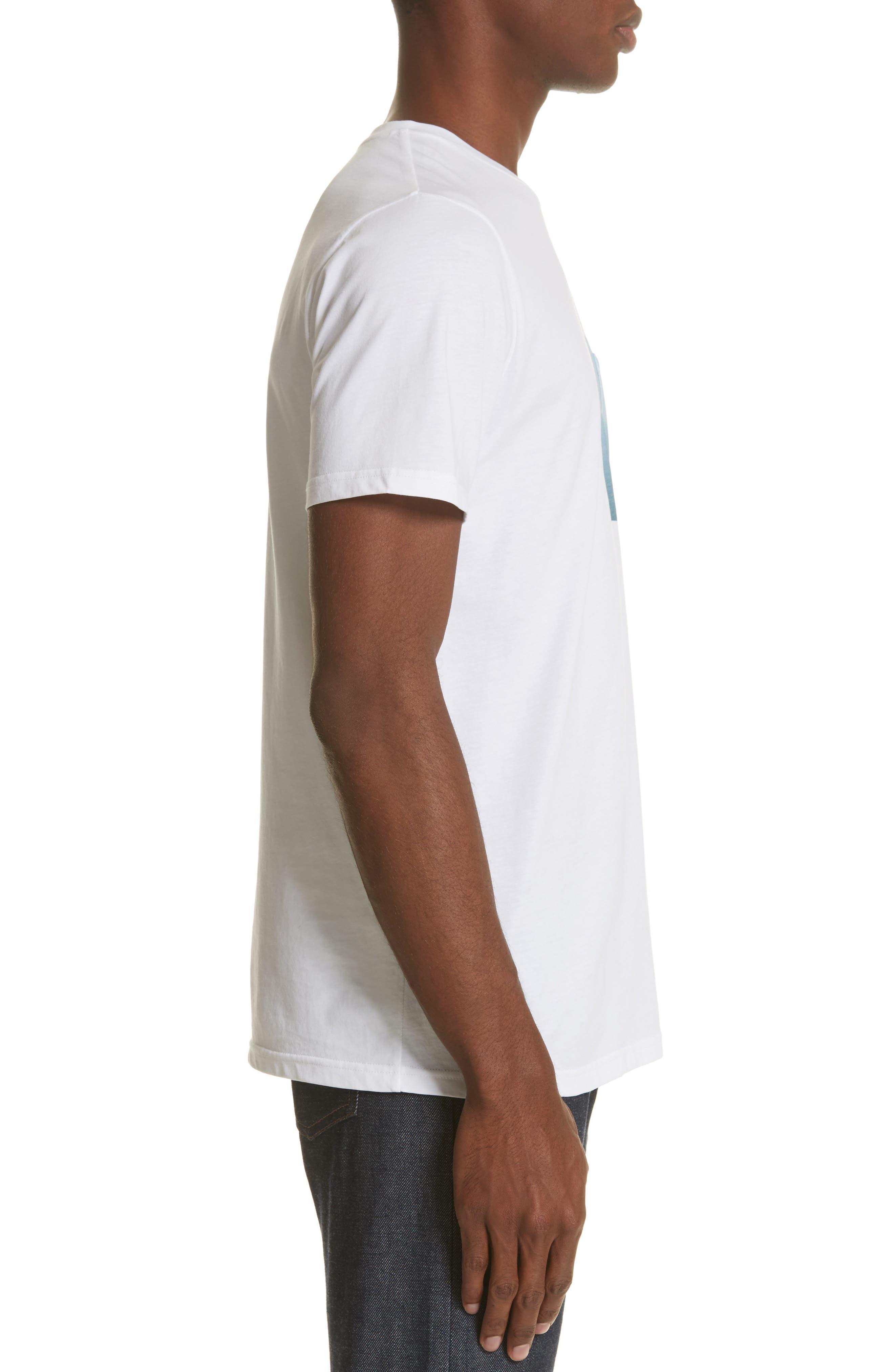 Seaview Print Pocket T-Shirt,                             Alternate thumbnail 3, color,                             WHITE