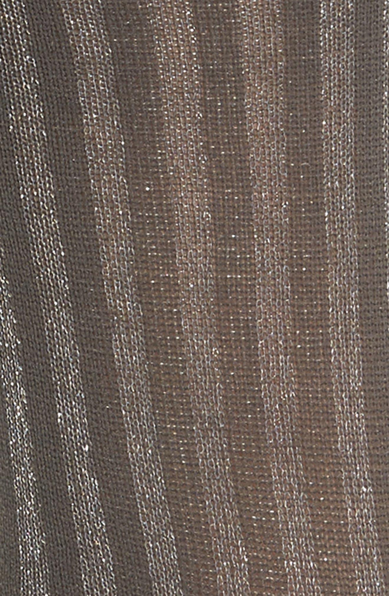 Metallic Stripe Crew Socks,                             Alternate thumbnail 3, color,
