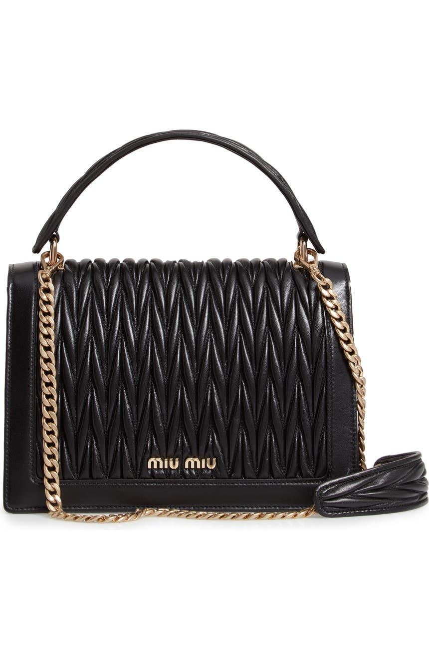 Miu Miu Confidential Matelassé Quilted Lambskin Leather Top Handle Bag  9a5d159e33af3