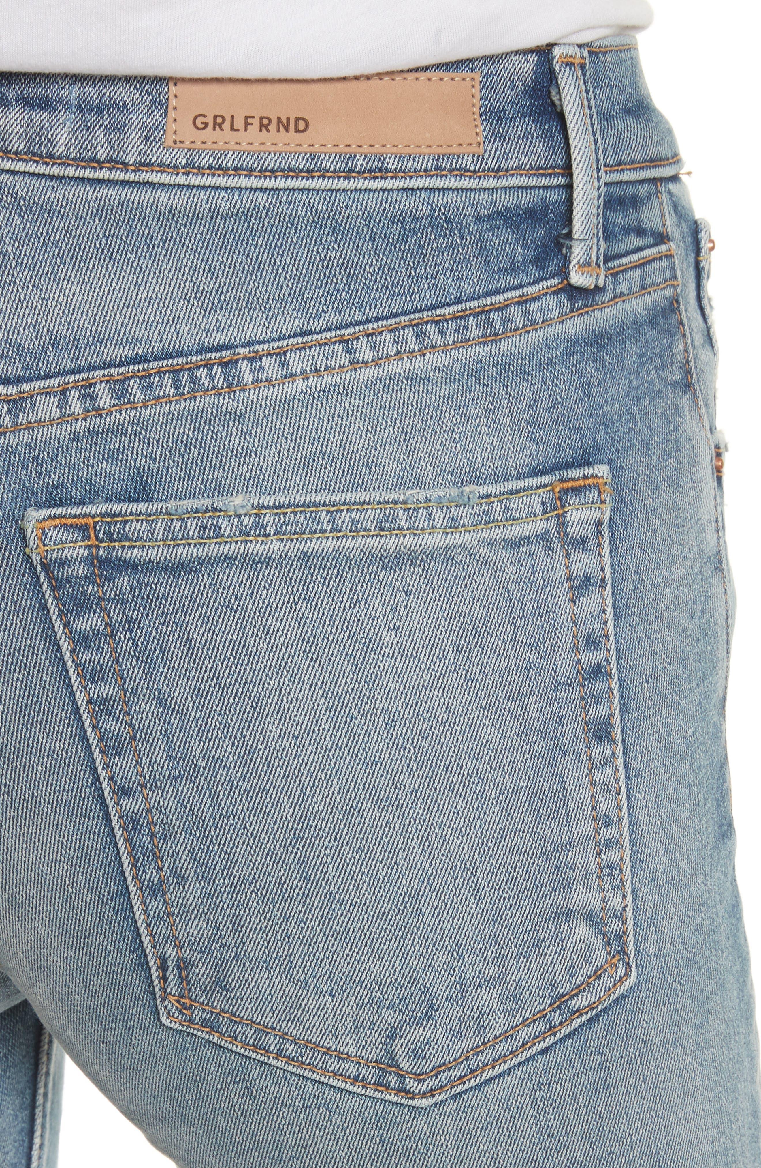Karolina High Waist Jeans,                             Alternate thumbnail 4, color,                             WHAT IS LIFE