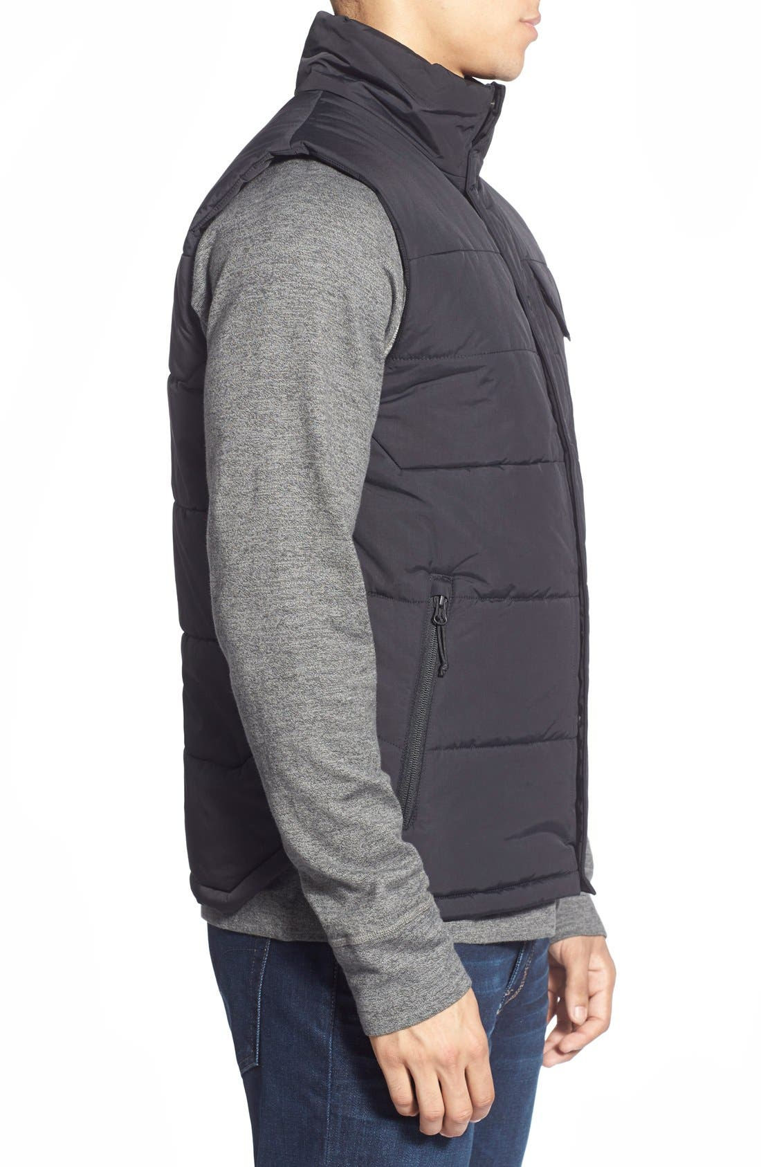 'Patrick's Point' Quilted Vest,                             Alternate thumbnail 2, color,                             001