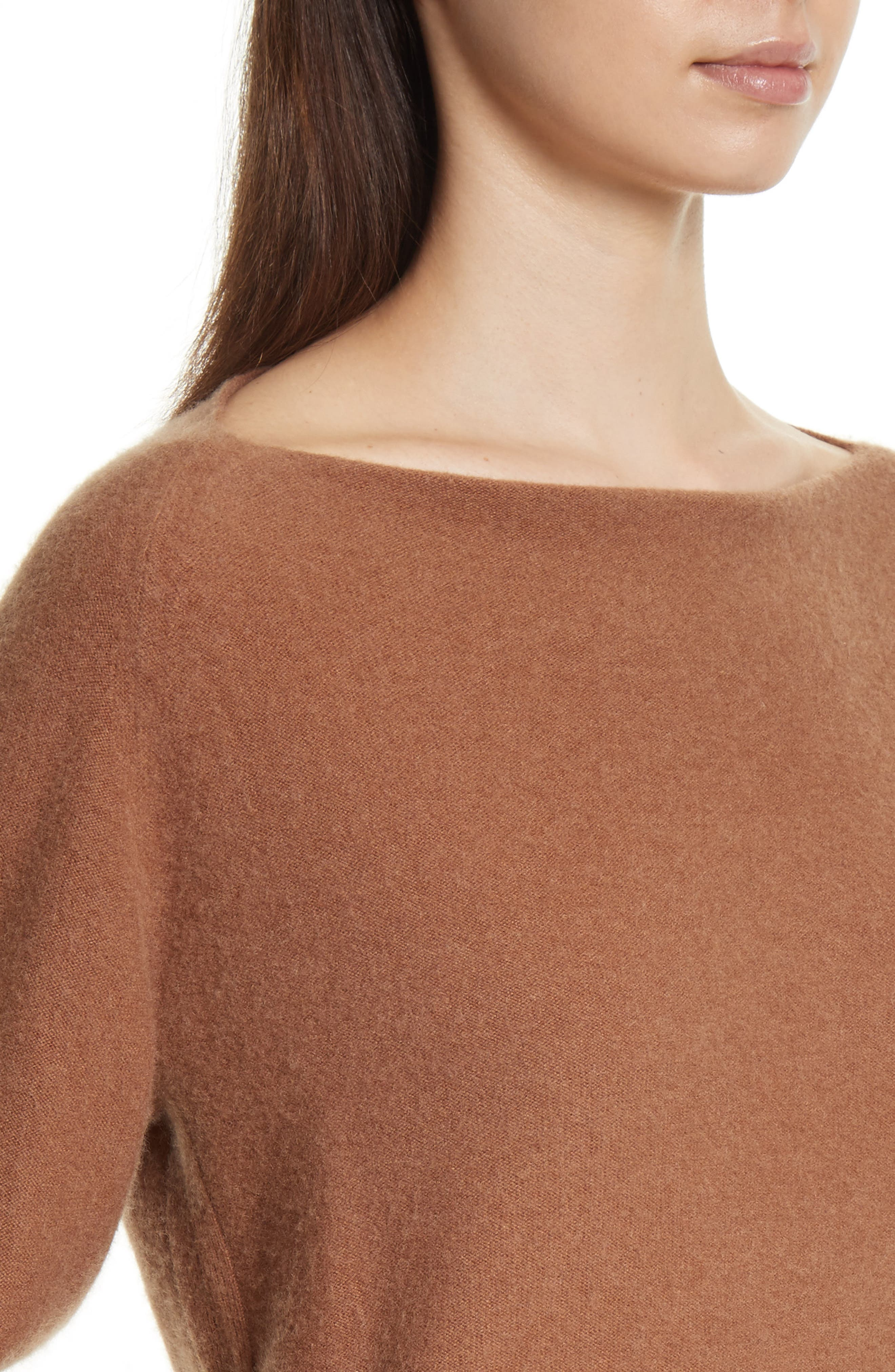 Boat Neck Cashmere Pullover,                             Alternate thumbnail 4, color,                             850